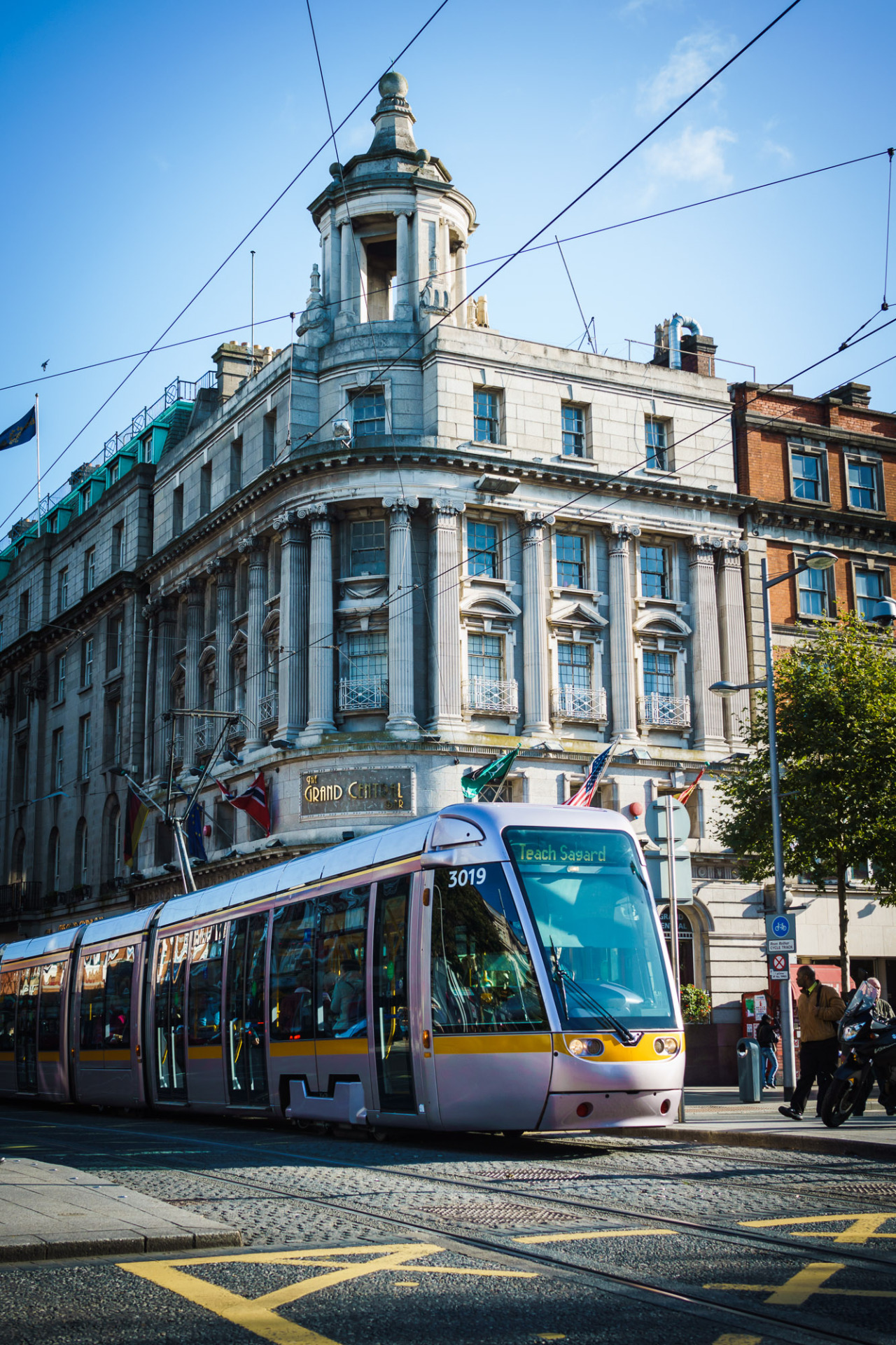 The Luas Crossing O'Connell Street on a Sunny Day last October!