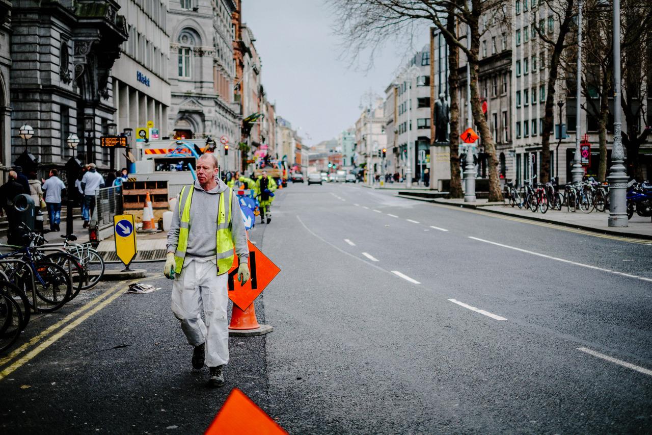 Road Works on Dame Street