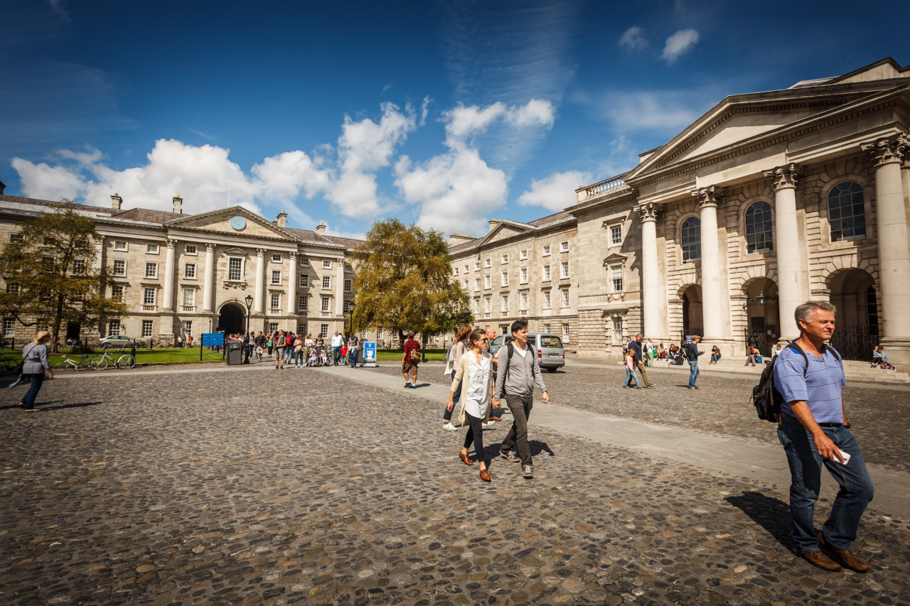 Inside Trinity College - Taken during the summer