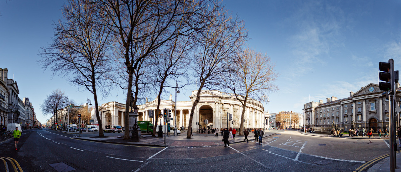 A Panorama of Dame Street and College Green