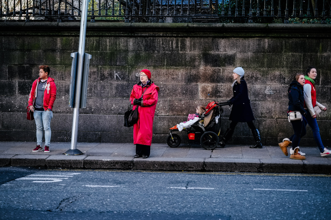 Waiting for the Bus in Dublin city