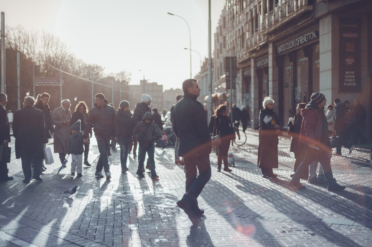 Shoppers in Dublin City