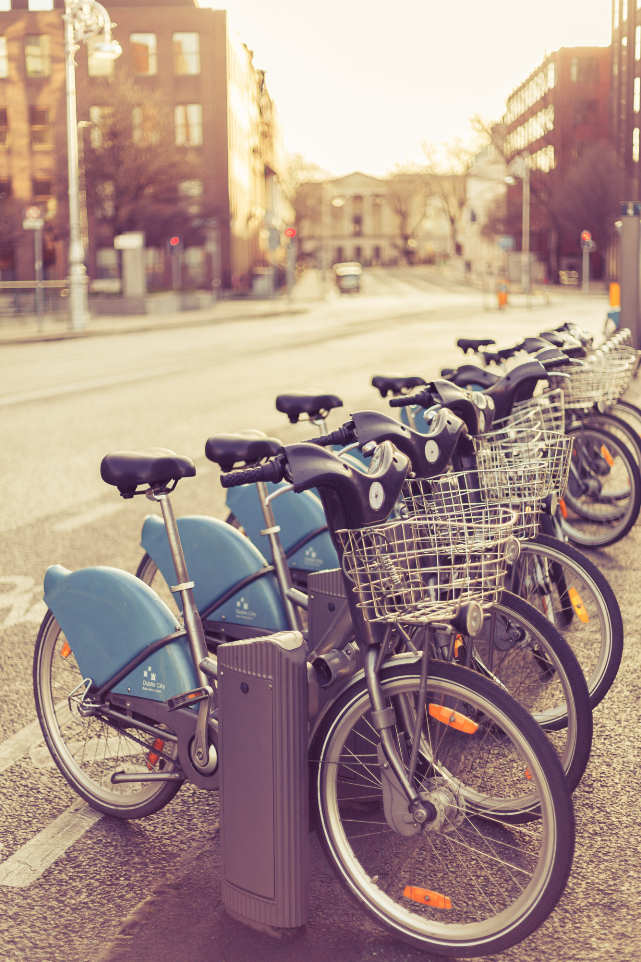 Dublin Bikes at Sunset