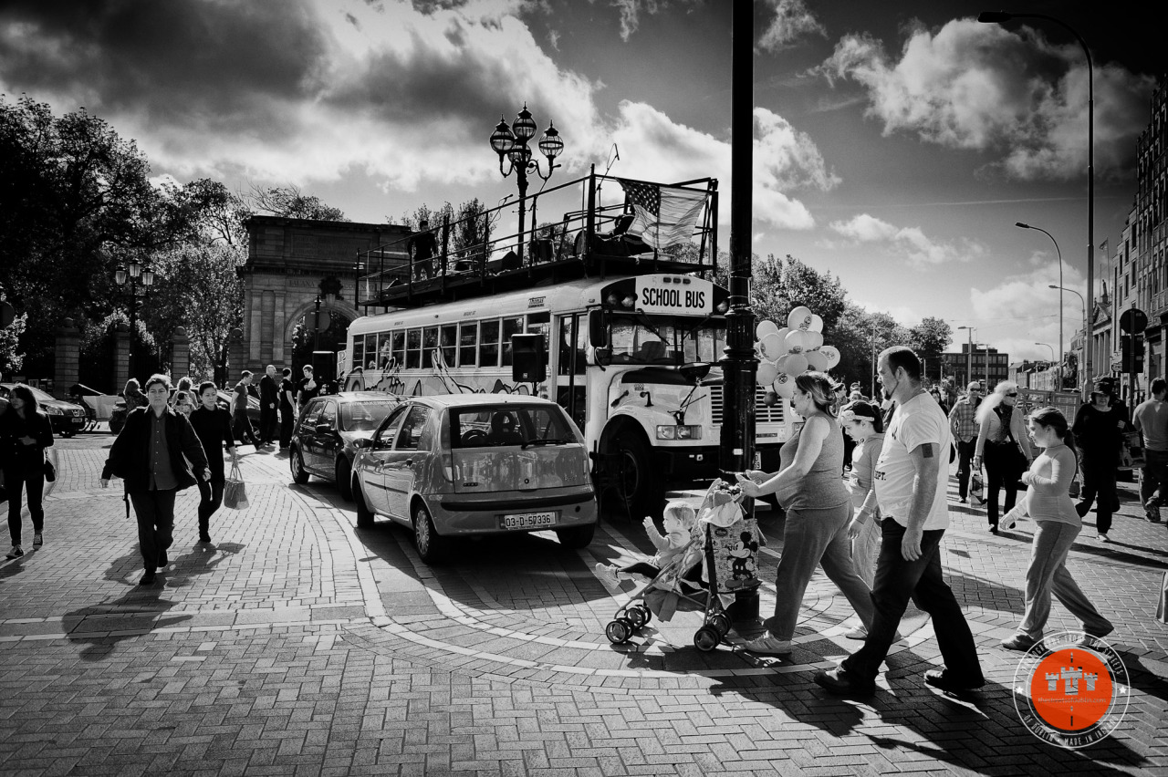School Bus on Grafton Street    Best Viewed @  https://thestreetsofdublin.com/blog/2013/8/school-bus-on-grafton-street