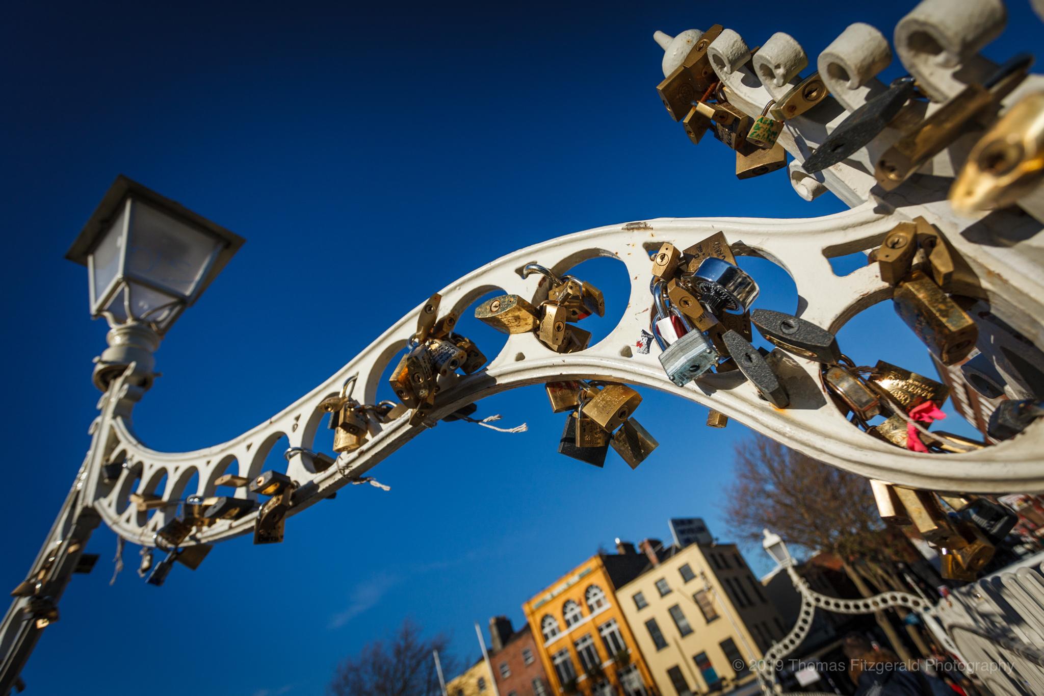 Locks on the Ha'Penny Bridge