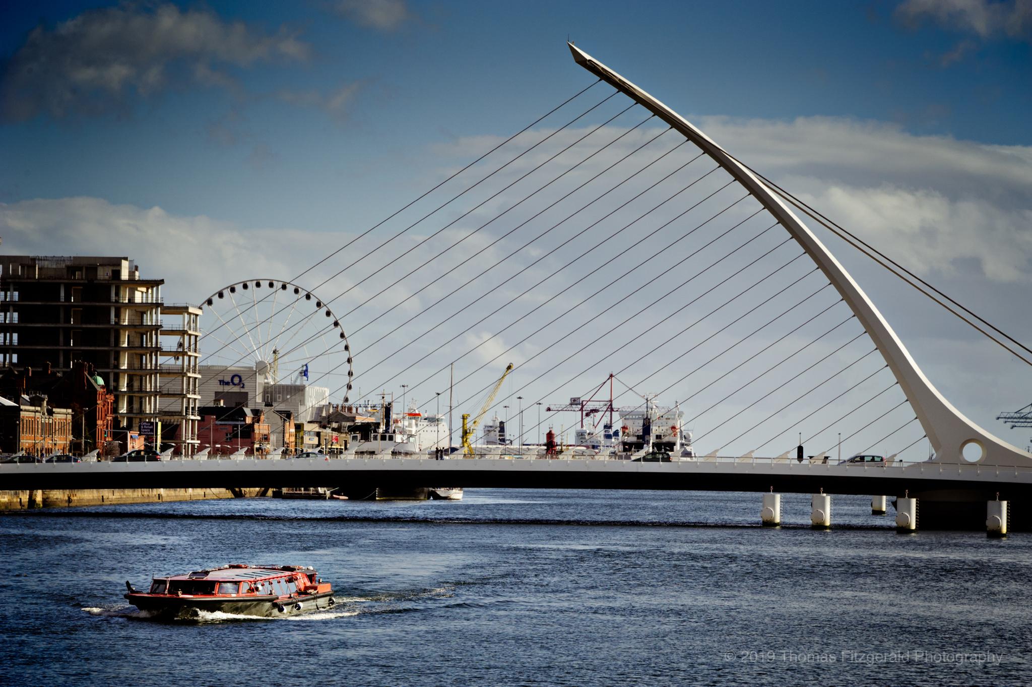 River Boat In Dublin Harbour