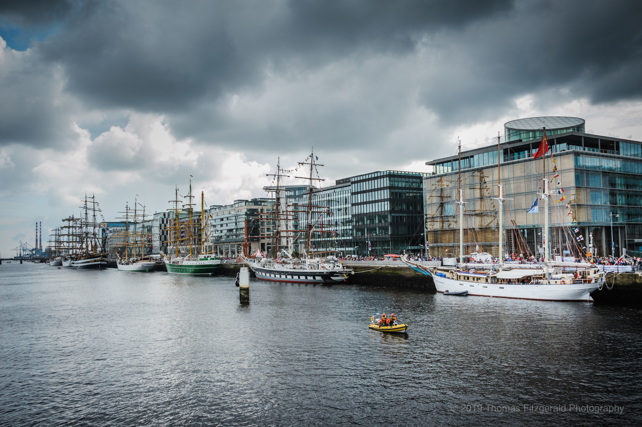 Photo of the Day: Tall Ships by the Lffey during last years Tall