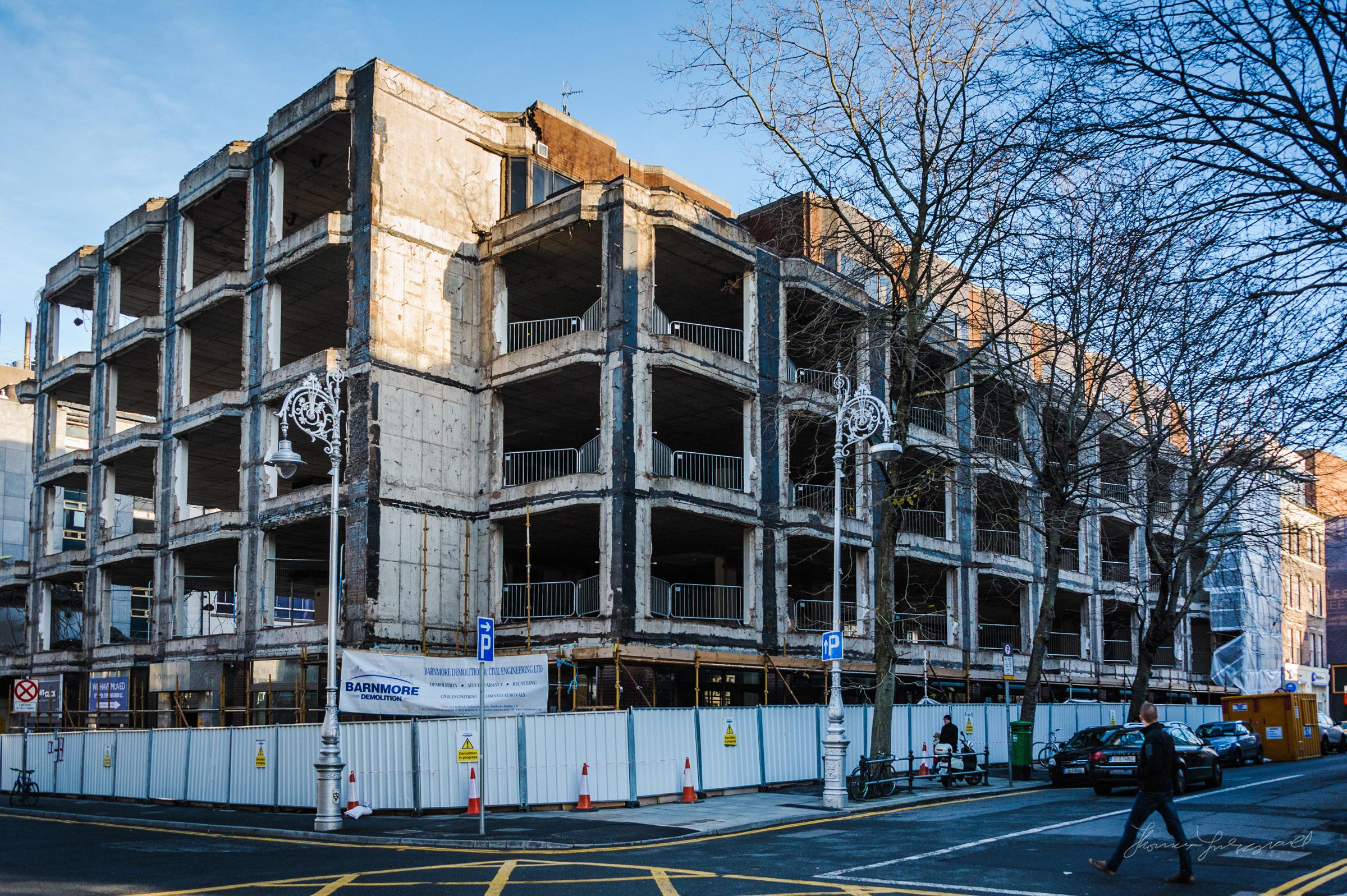 Demolition on Dawson Street
