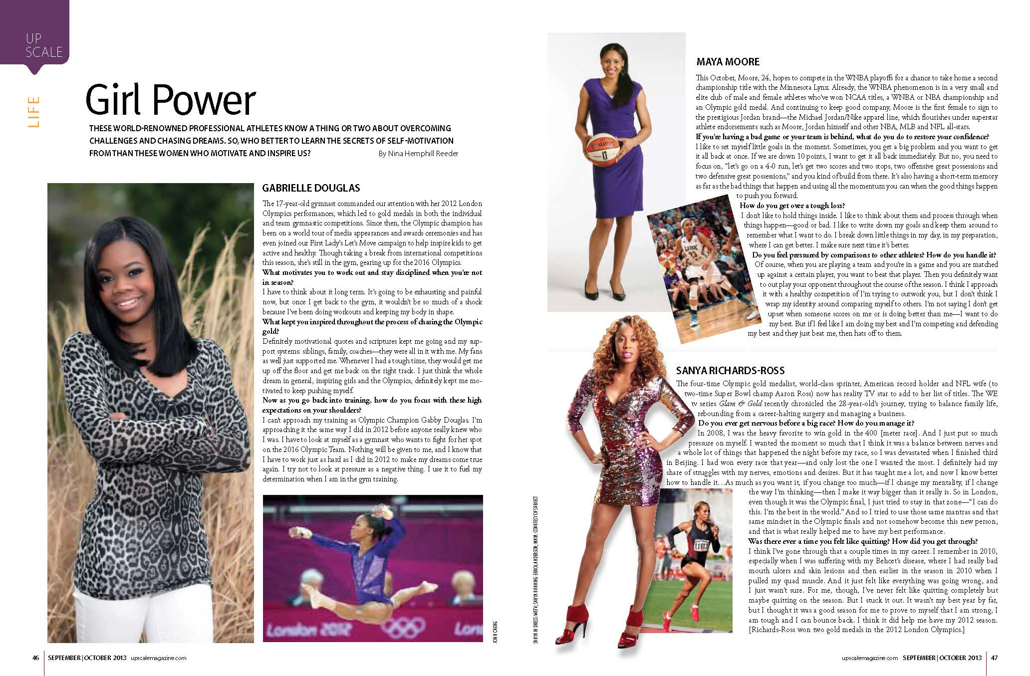 Feature with Female Athletes Gabrielle Douglass, Maya Moore and Sanya Richards-Ross
