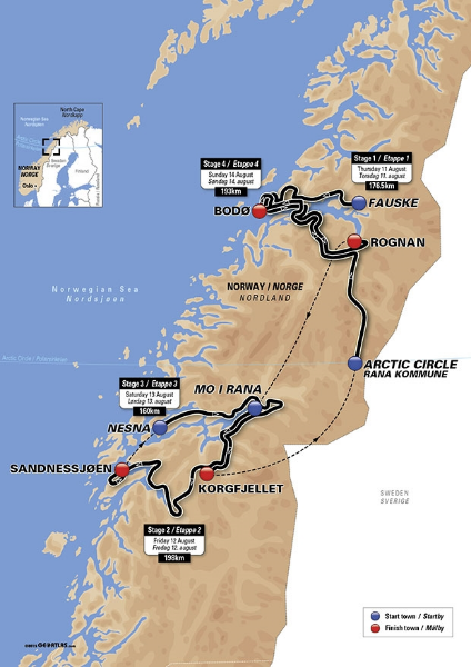 The Arctic Race of Norway 2016 Route