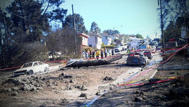 "2010 Natural Gas Explosion Kills 8 - ""Pipe-from-Sanbruno-explosion"" by Bryan"
