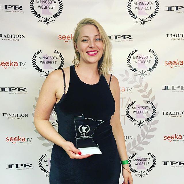 Woooo! We just won Best Narrative Vlog at Minnesota WebFest!!! . . . . .  #lady #tips #filmfestival #trend #girl #minnesota #ladies #puppy #comedy #filmfest #women #pink #ladytips #girlpower #smartgirls #love #actress #webseries #newepisodes #actor #writers #filmmakers #indiefilm #filmmaking #director  #independentfilm #movies #tv
