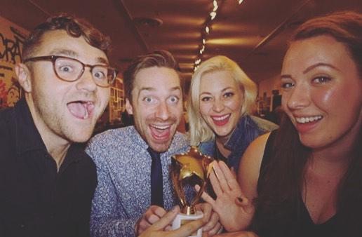 Winners of Best Sketch Comedy Writing! 💅🏼🌟 #baltimorenewmediawebfest @keepordestroy @ladytipsshow #award #team #writers #filmfestival #film #webseries #comedy #funny #internet #baltimore #maryland #webfest #filmfest #lady #girls #girlpower #stepandrepeat #redcarpet #feminism #director #producer #actor #movies #makingmovies #squadgoals #writersroom