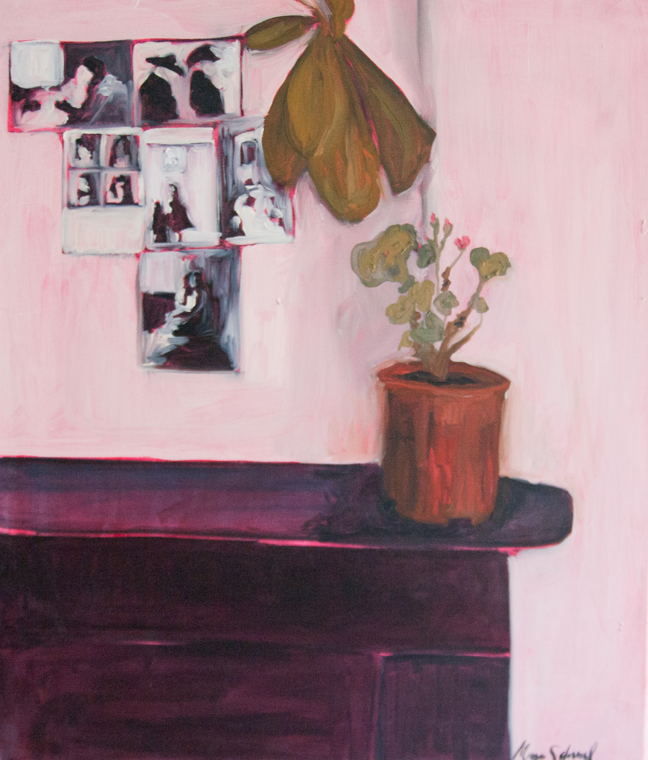 Still Life Day 45. 60x70cm.Oil, acrylic, and charcoal on canvas. 2015.