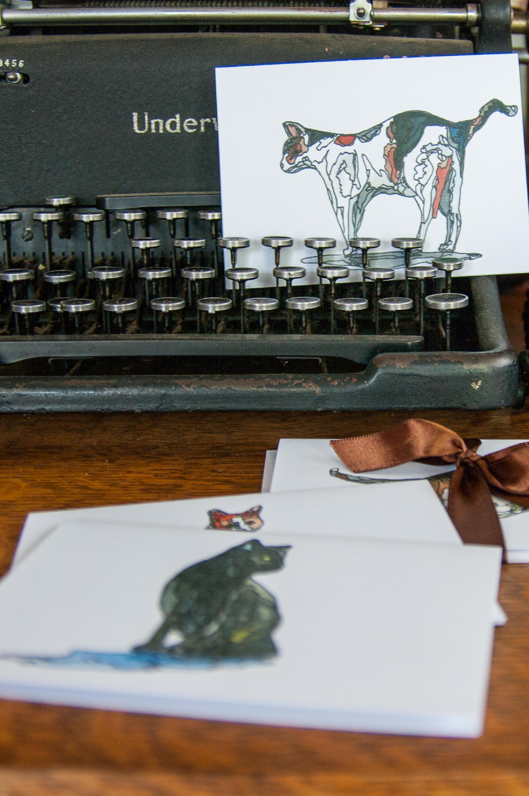 Morgan Schemel watercolor stationery