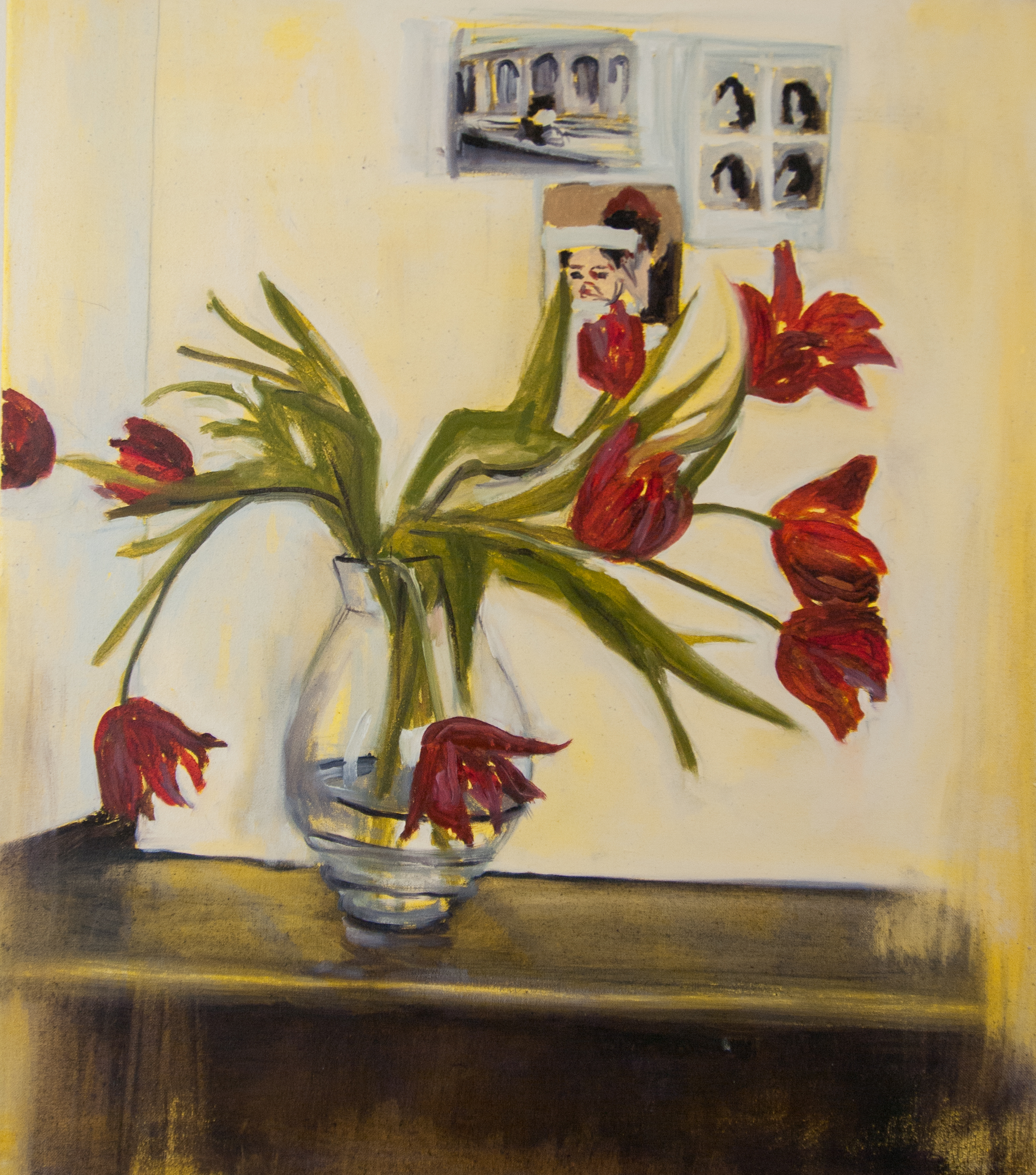 Still Life Day 60. 60x70cm. Oil, acrylic, and charcoal on canvas. 2015.