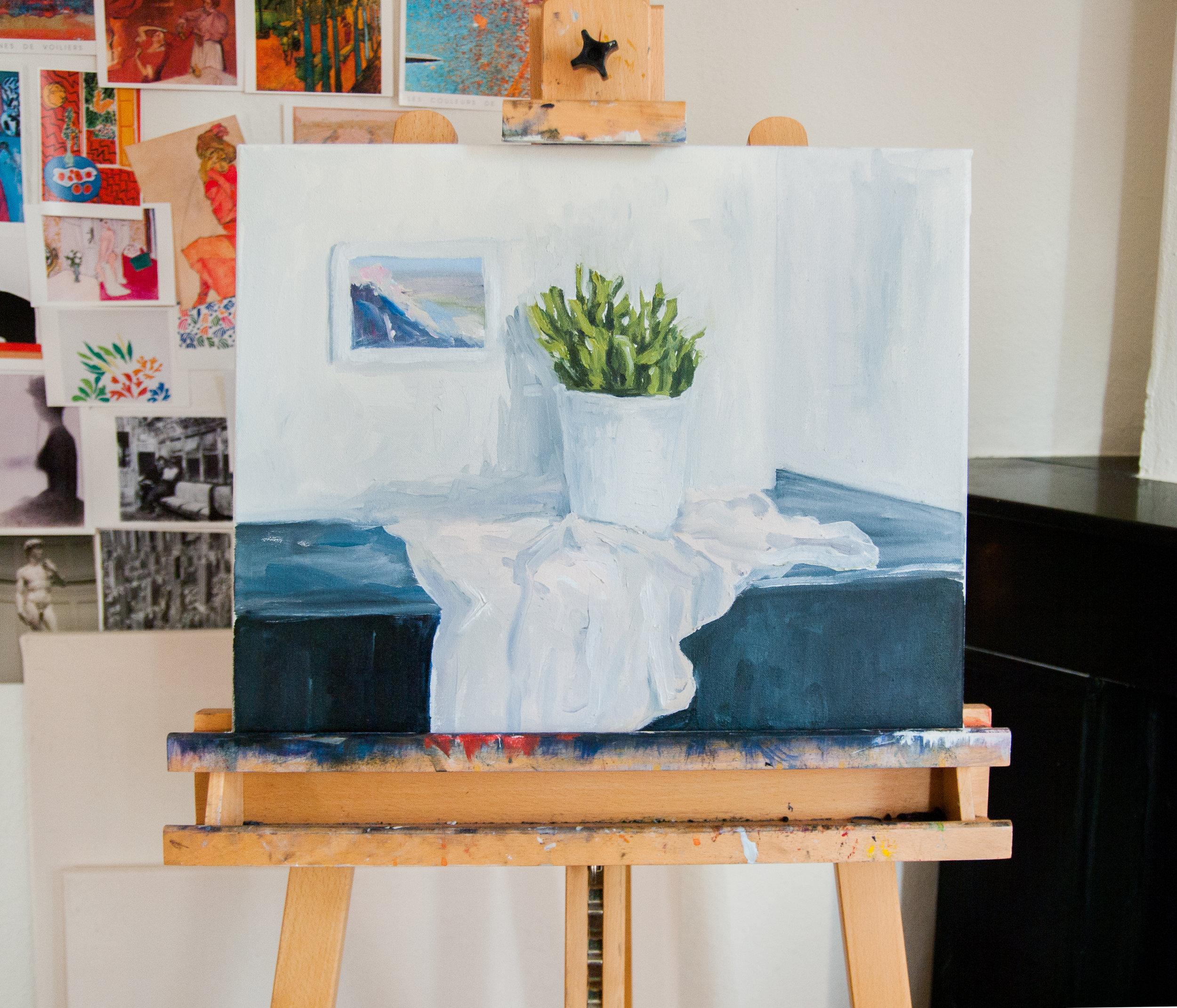 Still Life Day 350. 50x40cm. Oil on canvas. 2016.