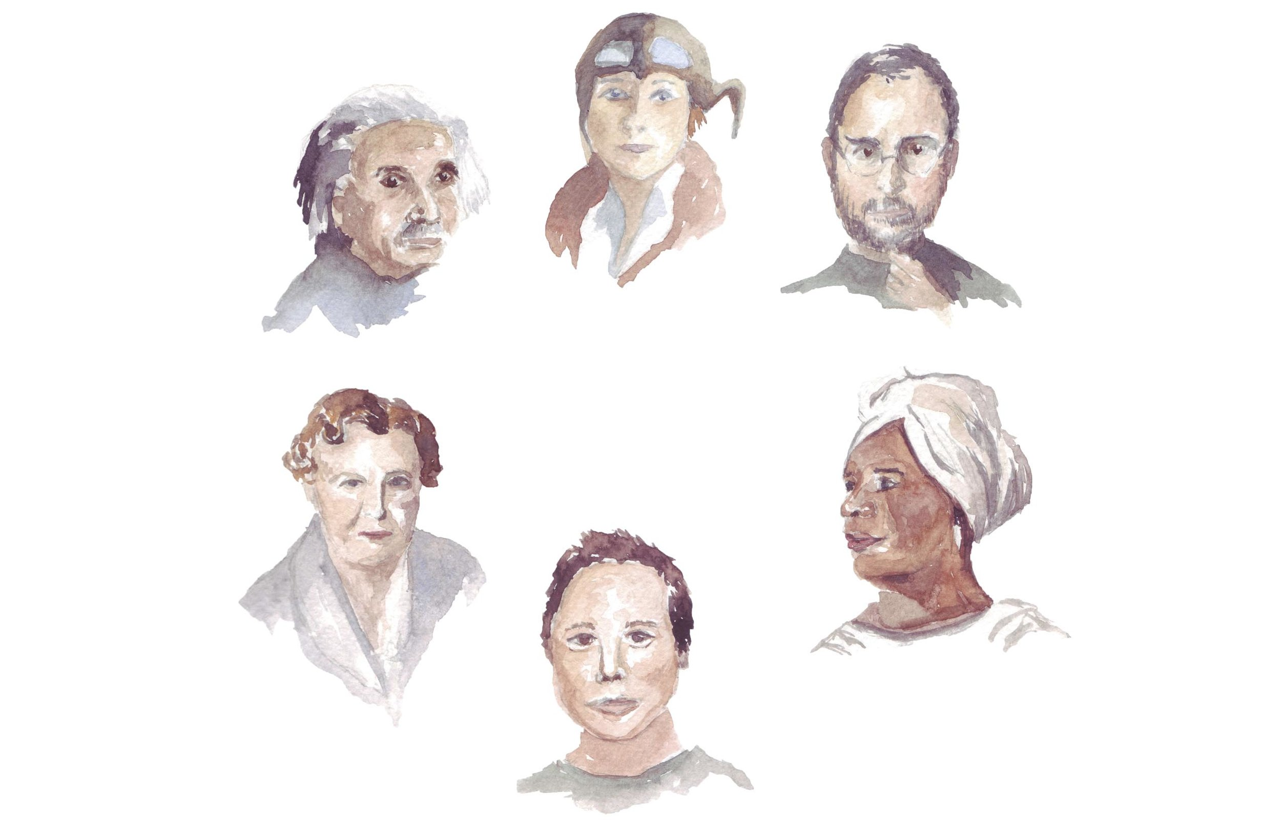 New York Innovators Series. December, 2015. Watercolor on paper.