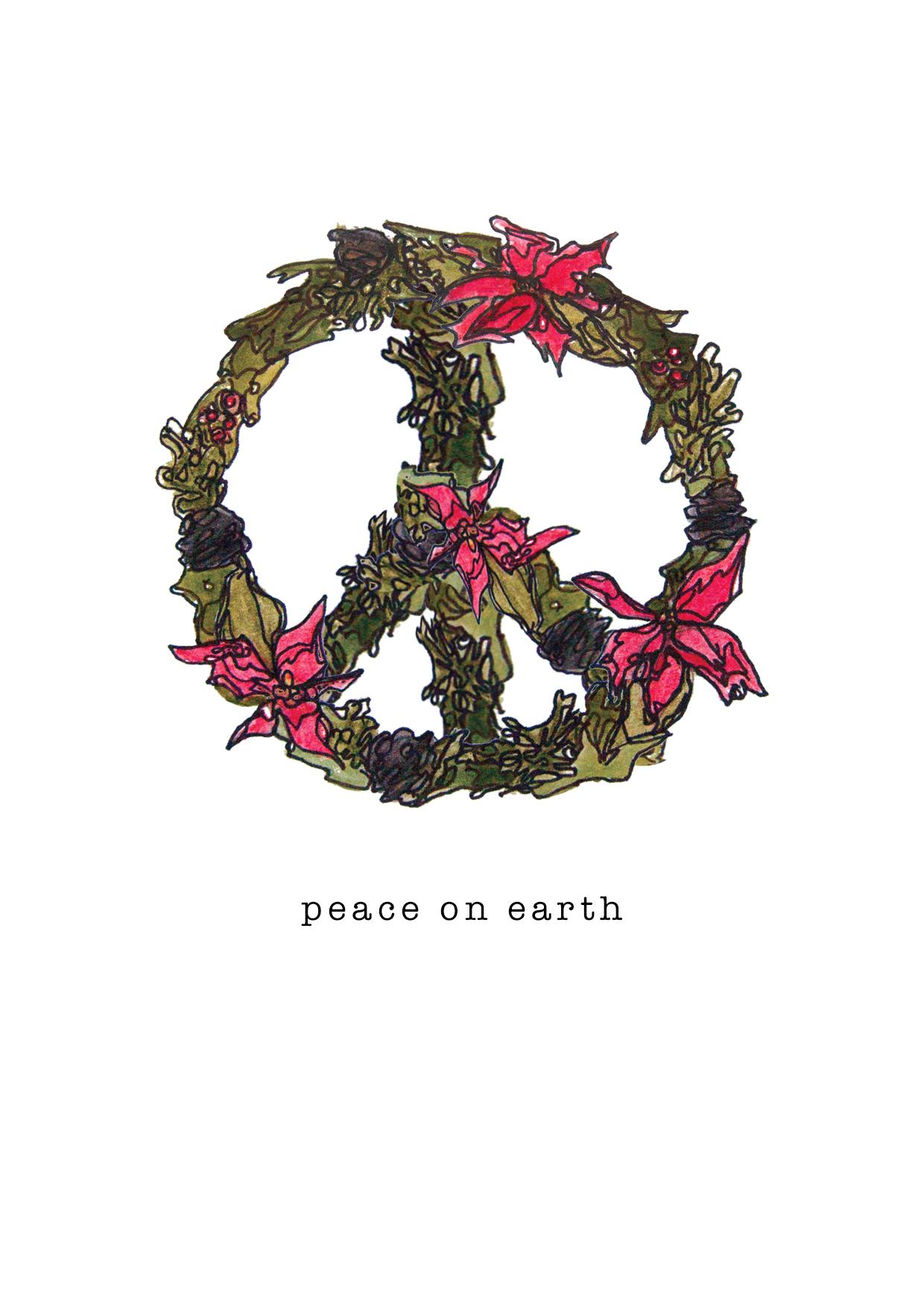 Custom Christmas Card. Peace on Earth. December, 2016.