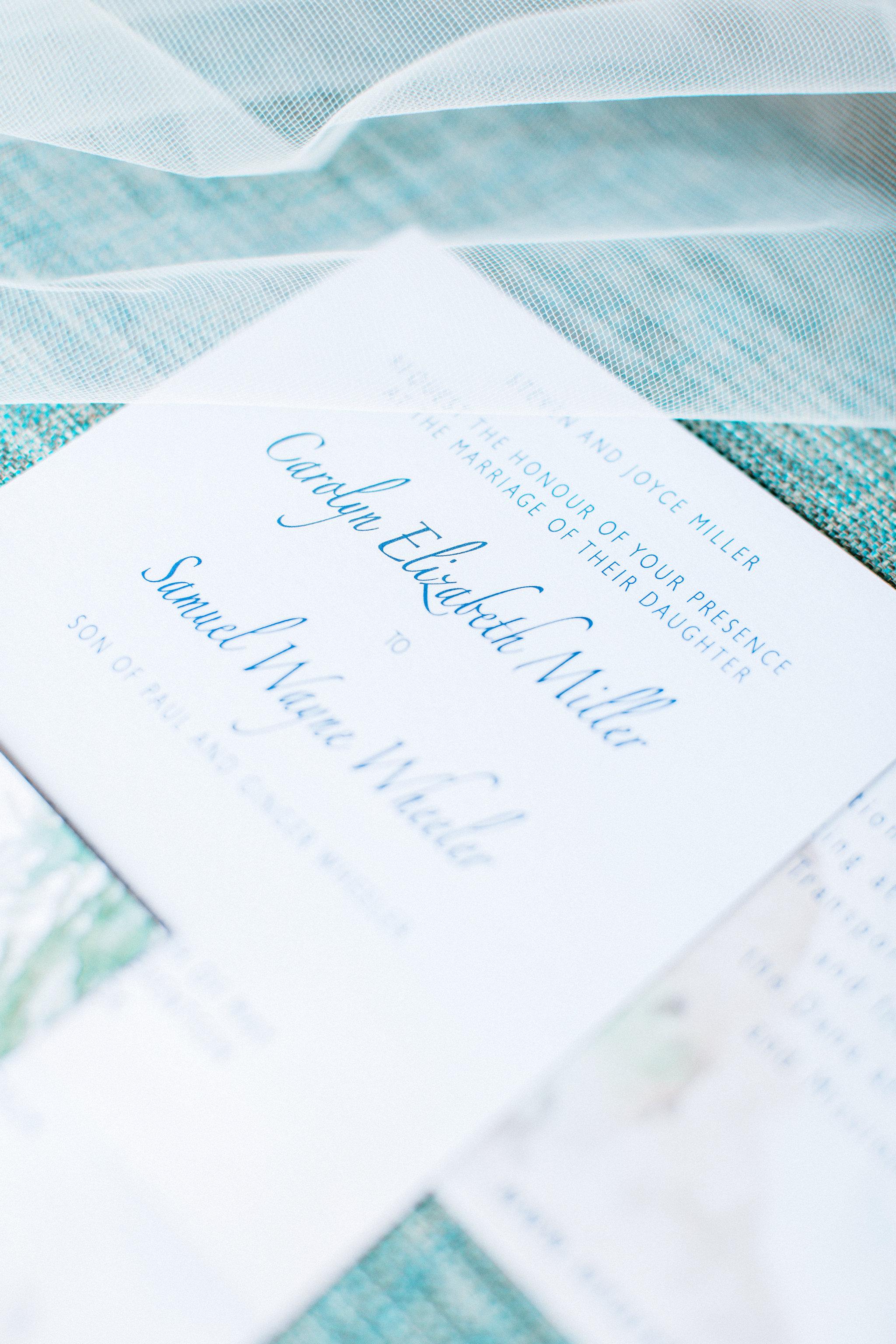 Costal California Wedding Invitation Design, 2017. Photo by  Pauline Conway Photography .