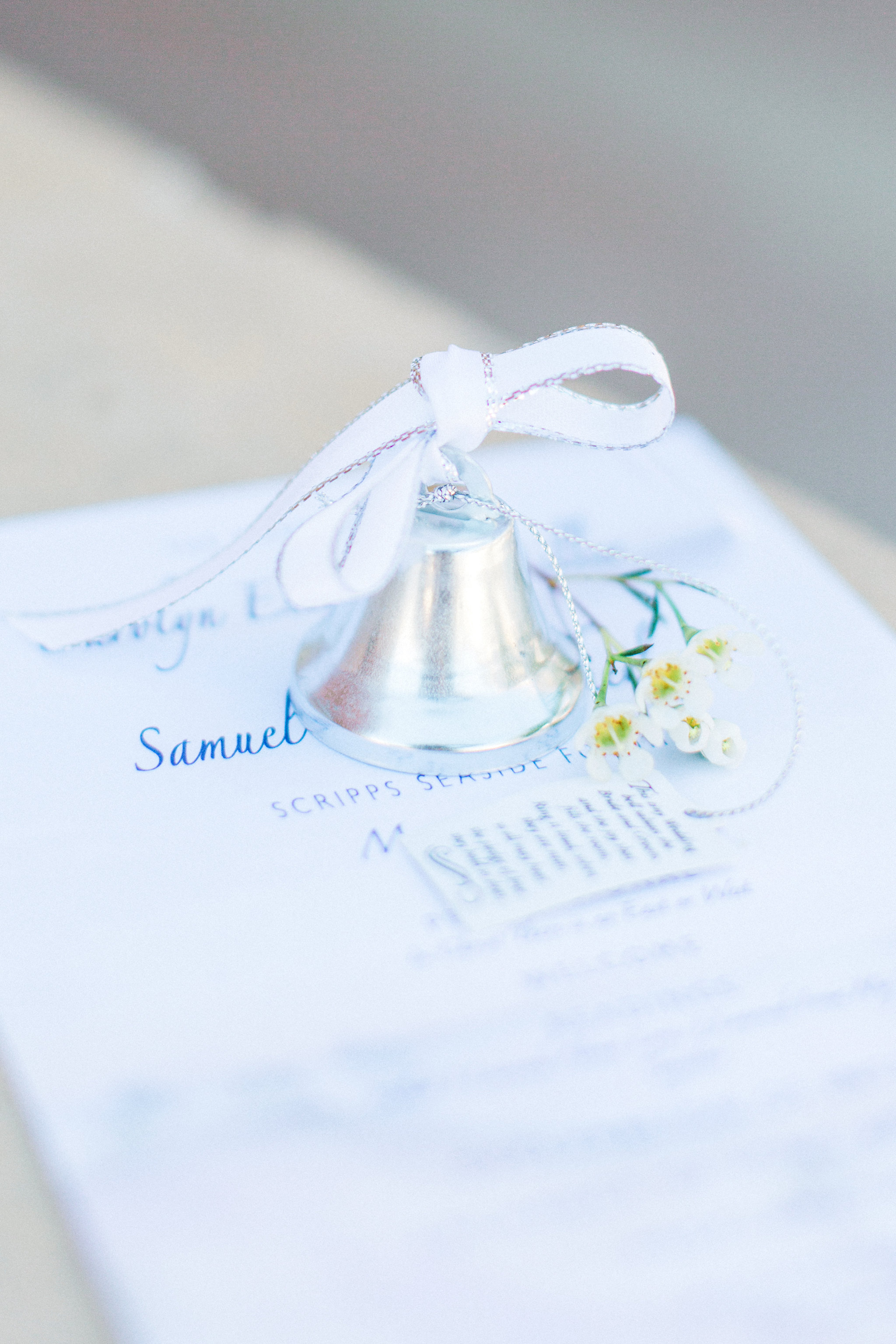 Scripps Seaside Pier Wedding Program in Watercolor, 2017. Photo by  Pauline Conway Photography .