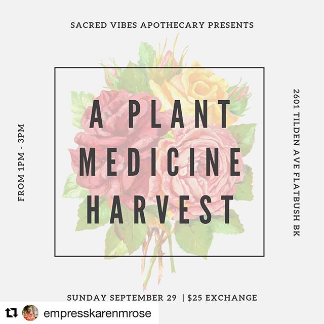 #Repost @empresskarenmrose with @get_repost ・・・ Making it possible for more POC to attend our Herbal Conference!! . . A Plant Harvest by Sacred Vibes Apothecary in support of our conference!! Come out to our Annual Harvest at the #svmedicinewheel and spend an afternoon harvesting and making medicine with us🌺 . . All monies will go in support of POC tickets at our conference.!!💜 . . Get your ticket link in our Bio! . . #medicinalplants #svmedicinewheel #sacredvibesapothecary #communityherbalism #herbalism #herbalismworkshop