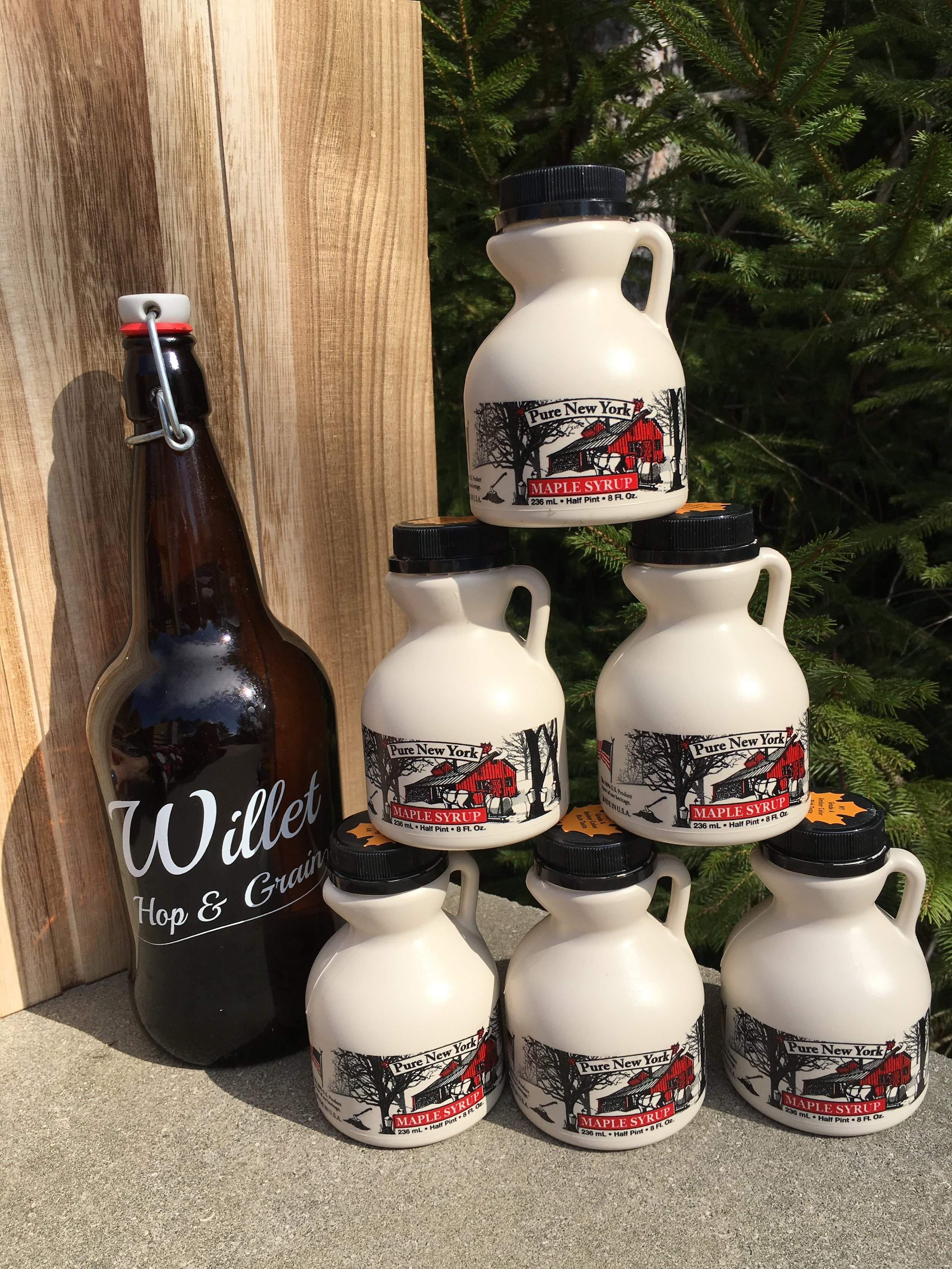 "FOR SALE - Fresh 2017 Maple Syrup!  Maple Porter?  Maple Stout?  Pancakes?  Oh, the options are endless!!  See our ""Store"" tab for pricing."