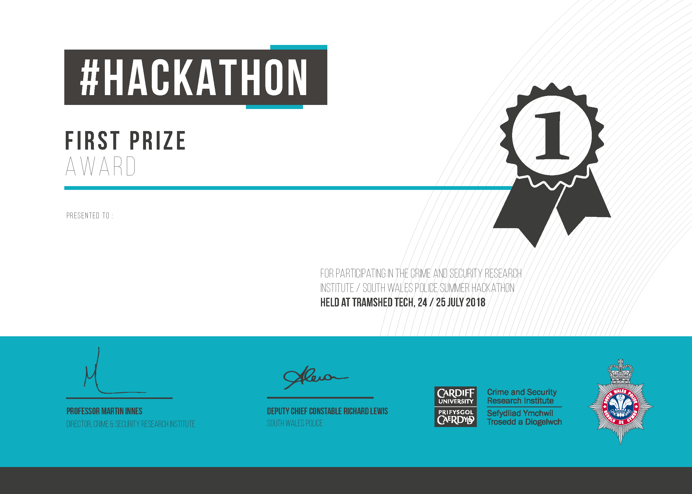 Hackathon First Prize Certificate.png