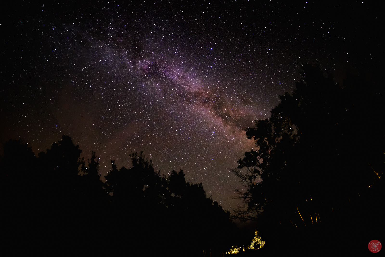 Milky way over Alberta Waterton