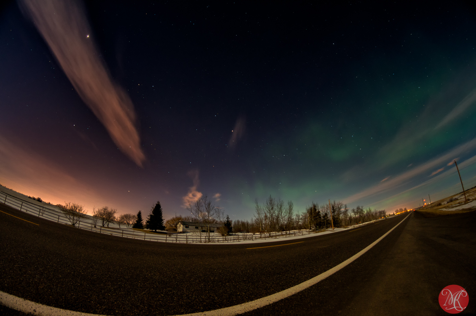 Aurora Borealis over Alberta near Edmonton