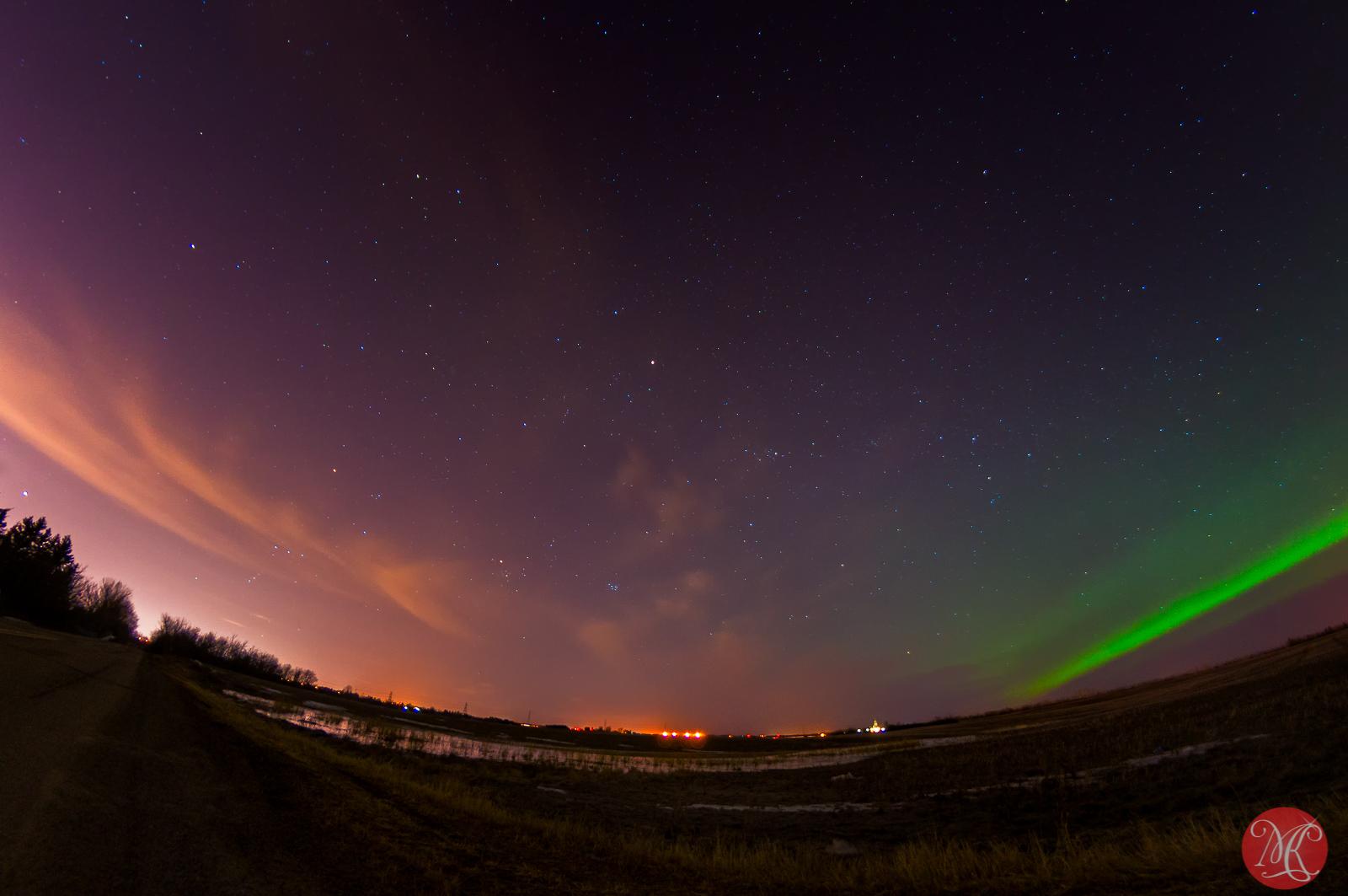 Northern Lights over Edmonton Alberta