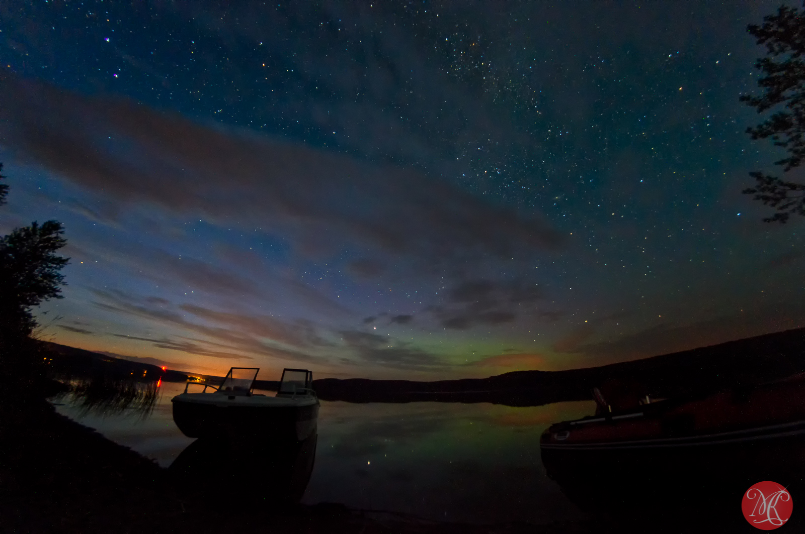 Long Lake at night