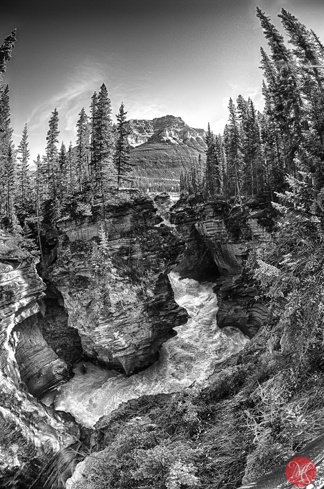 At Athabasca Falls 1