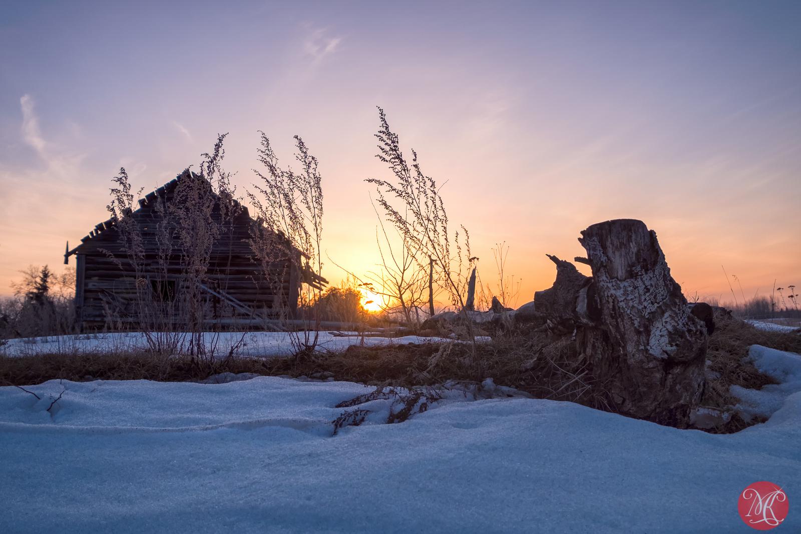 Sun is setting on the prairies