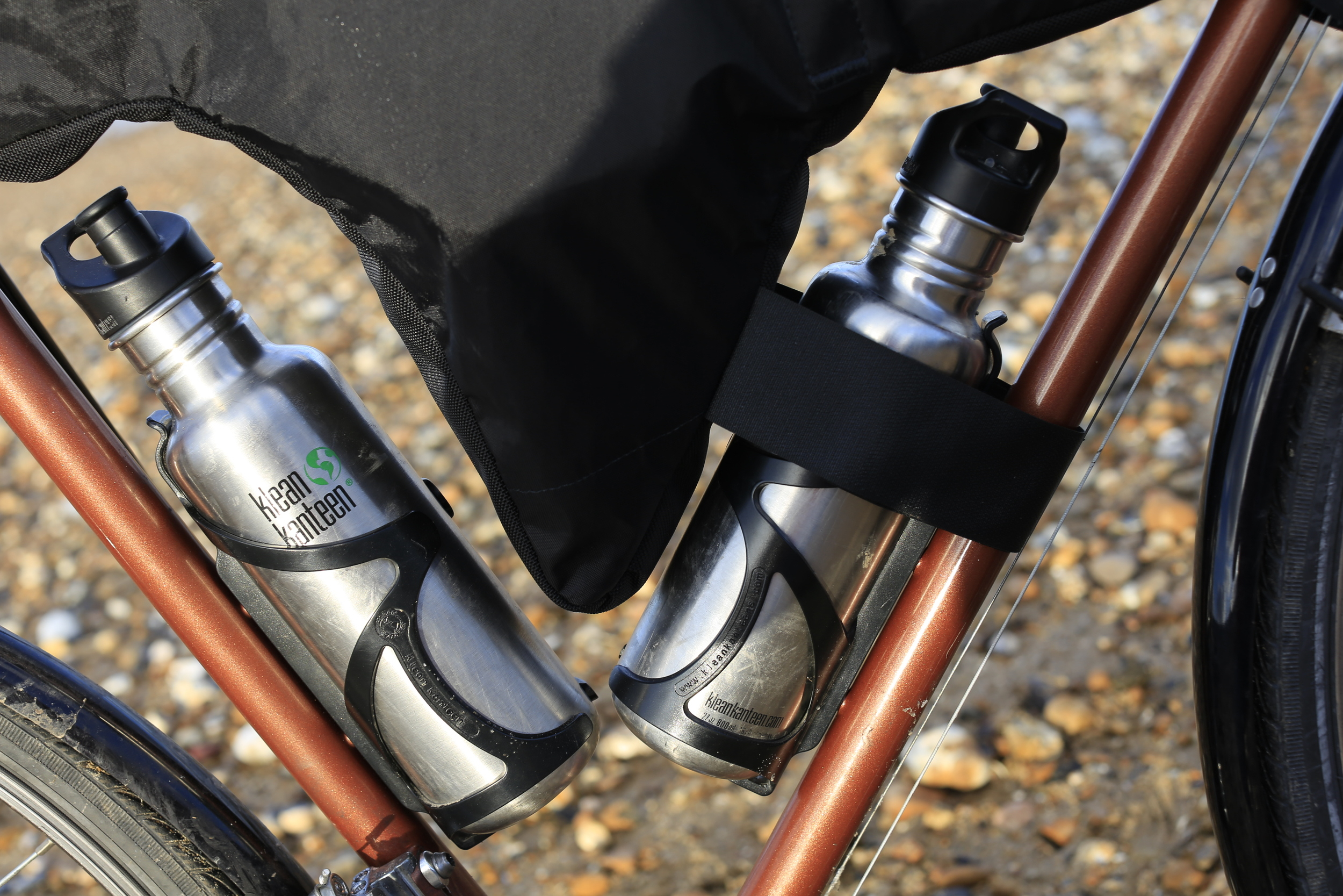 Klean kanteen, raleigh, bicycle, beach, touring bicycle, canon, canon 6d