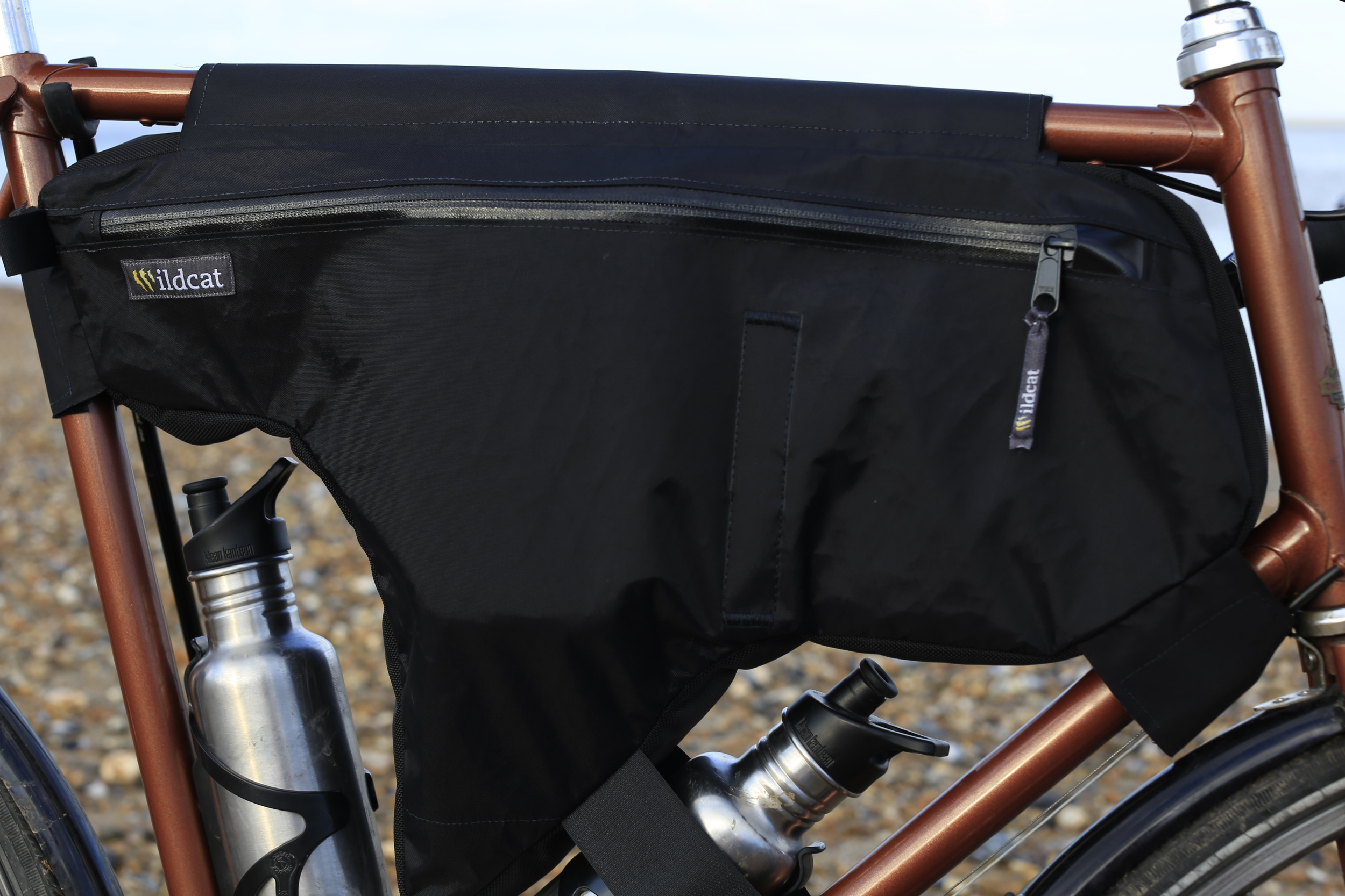 frame bag, panniers, bicycle, custom tourer, cycle gear, review