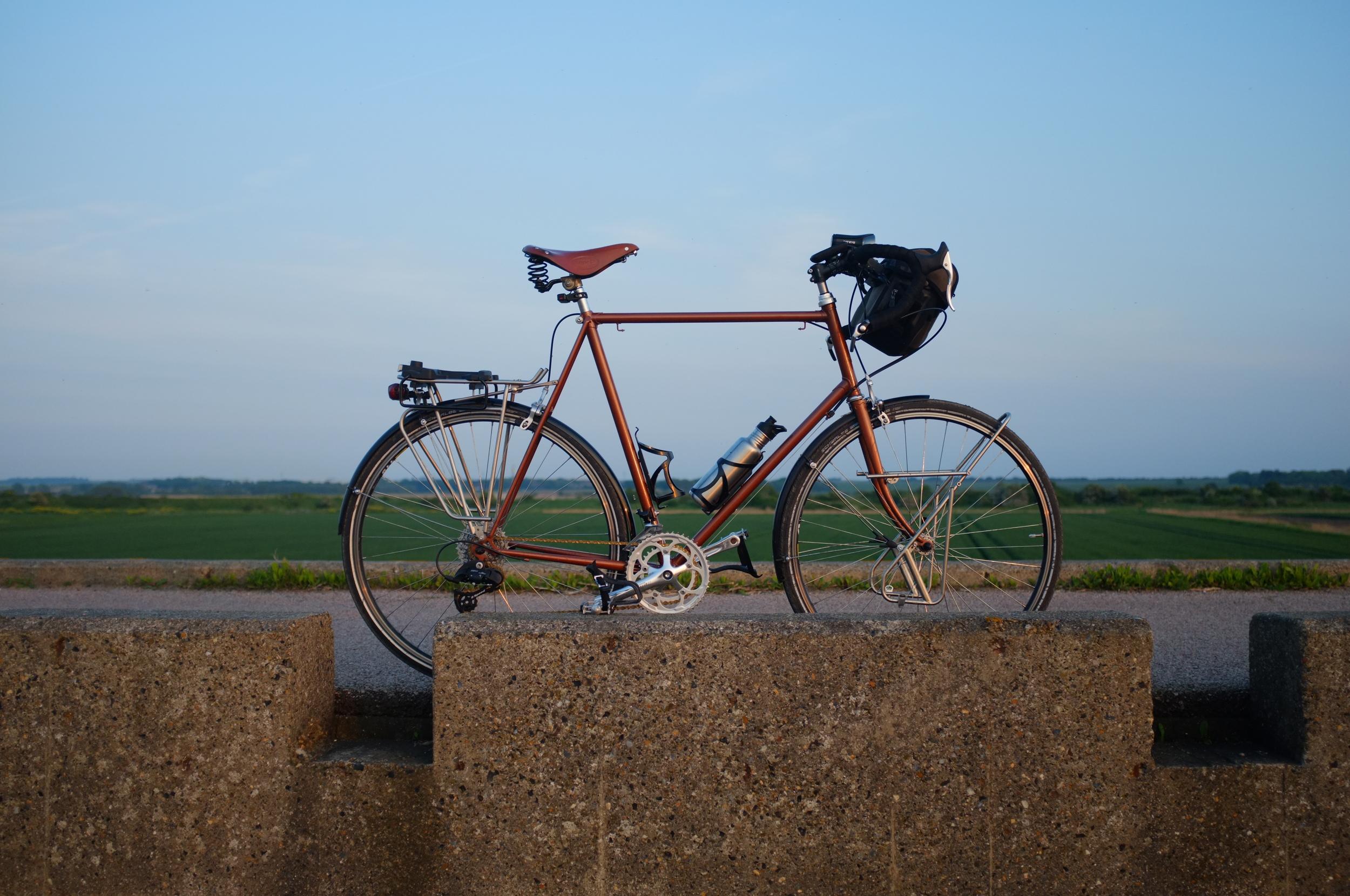 raleigh, custom touring bike, touring bike, bicycle touring apocalypse, brooks, brooks saddle, brooks flyer, brooks b17, cycle gear, review, blog,