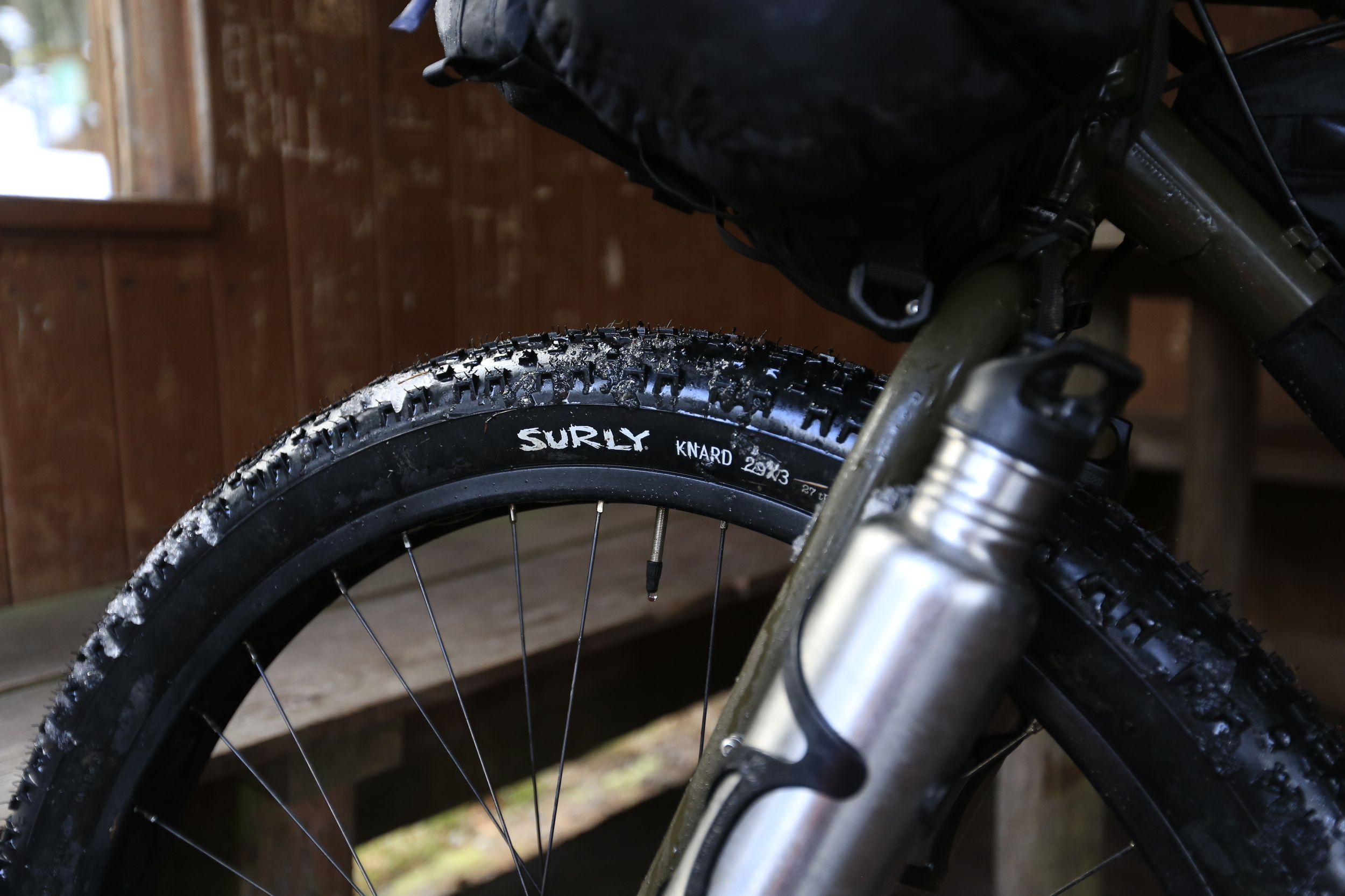 "Surly's almighty   29 x 3"" Knards   didn't concede a single puncture and provided excellent grip on wet mud, gravel and snow."