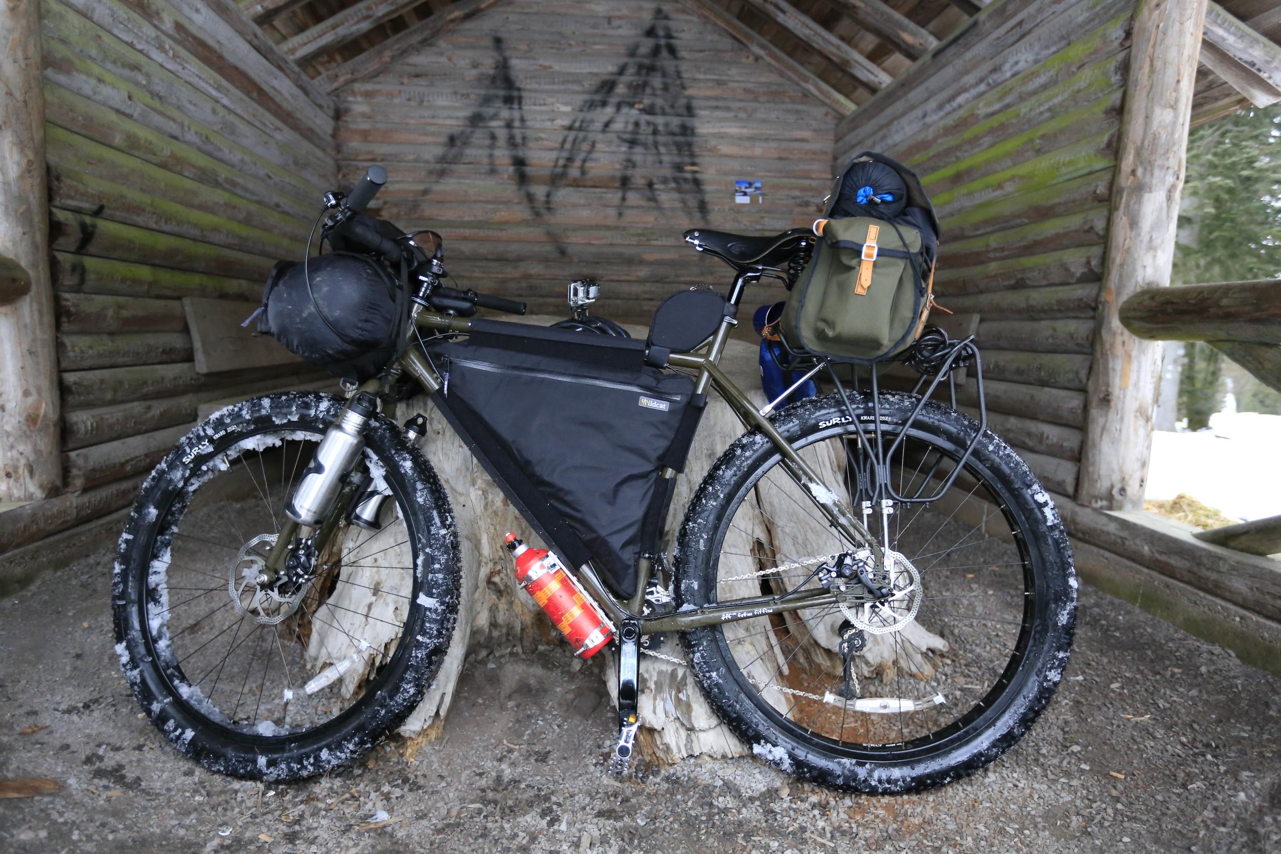 surly, surly ecr, bikepacking, fat bike, knards, trangia, cycle touring, bicycle touring, carradice, carradice longflap camper, brooks, gopro hero