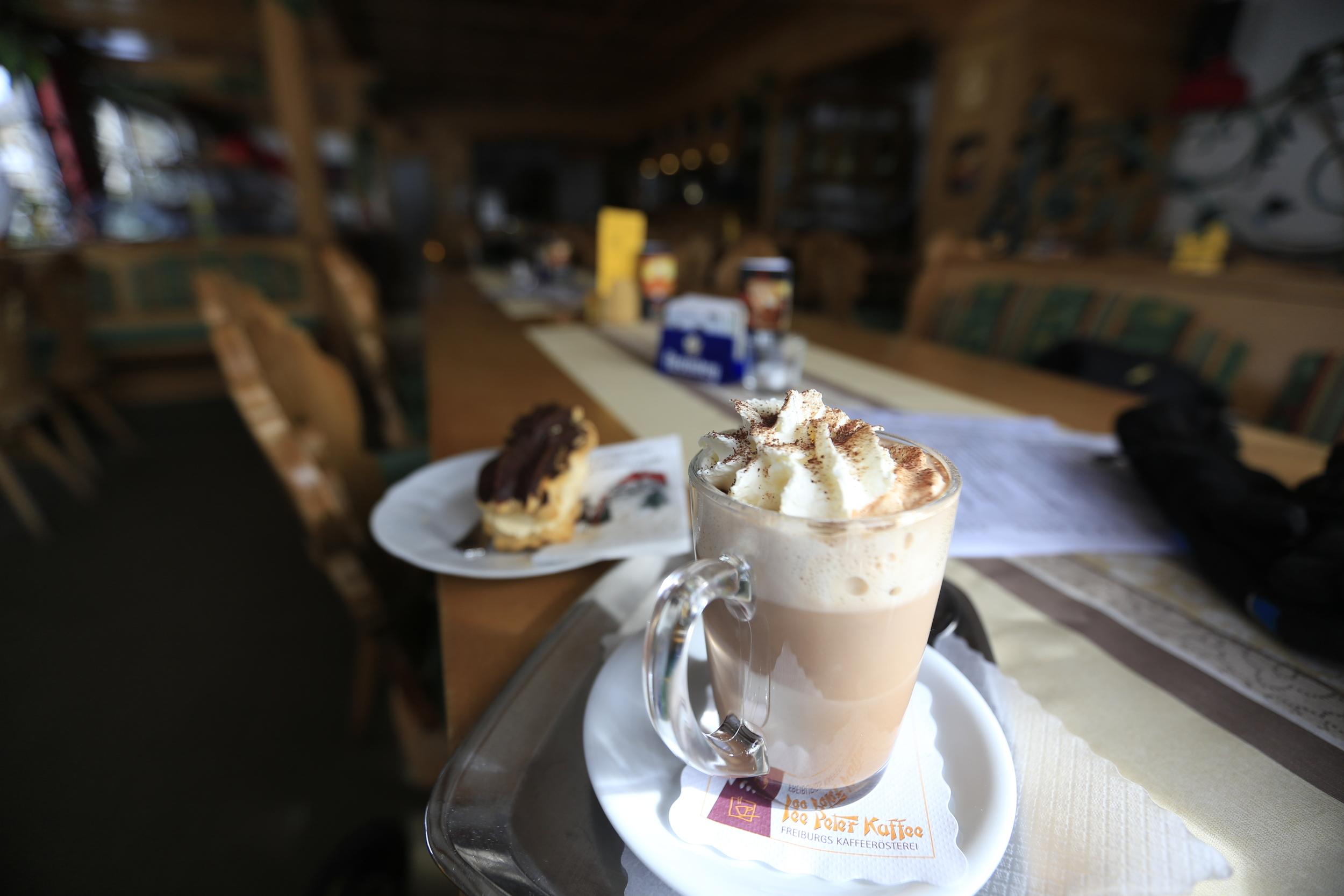 Hot Chocolate and cake....