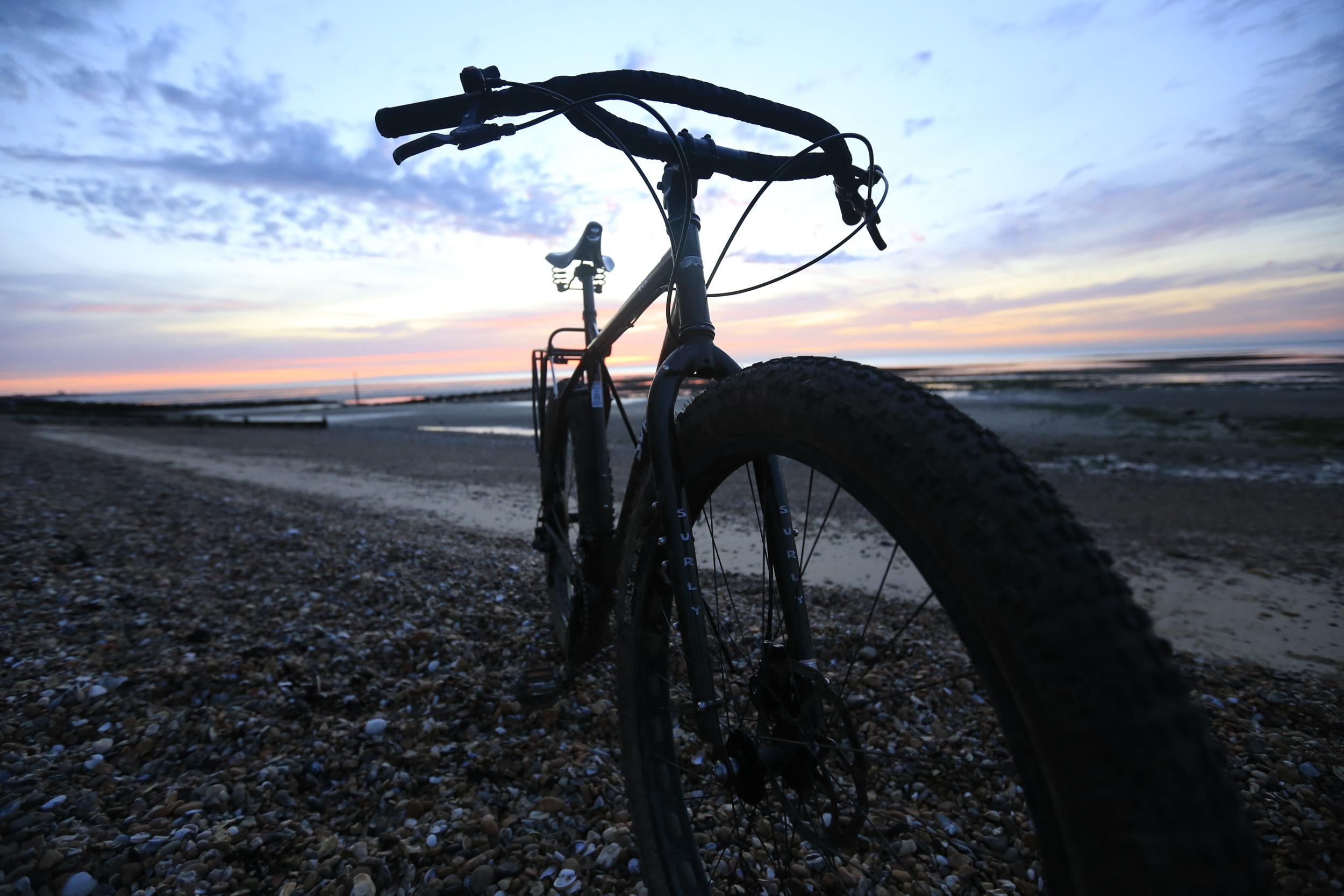 surly, surly ecr, ecr, jones h bar, steel frame, bikepacking, 29 x 3, beach, landscape photography, travel photography, bikepacking blog, cycling blog, mtb, cycling gear