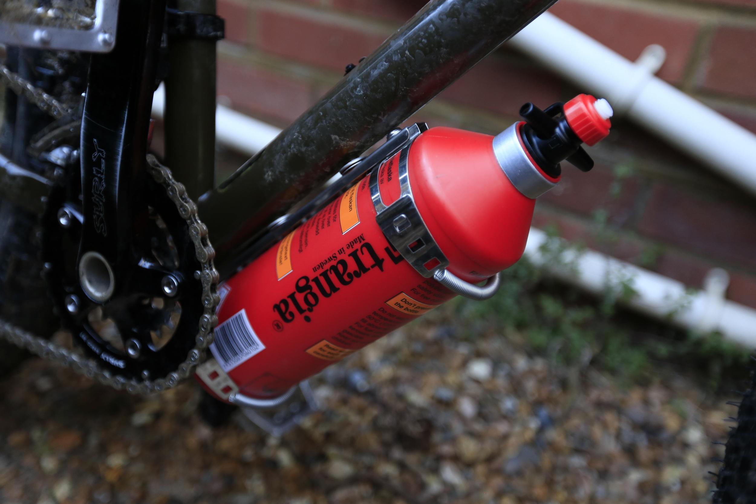 bikebuddy, bikebuddy mk3, bikepacking, cycle touring, touring blog, bicycle touring apocalypse, surly, surly ecr, steel frame, cycling, bottle holder, touring bottle holder