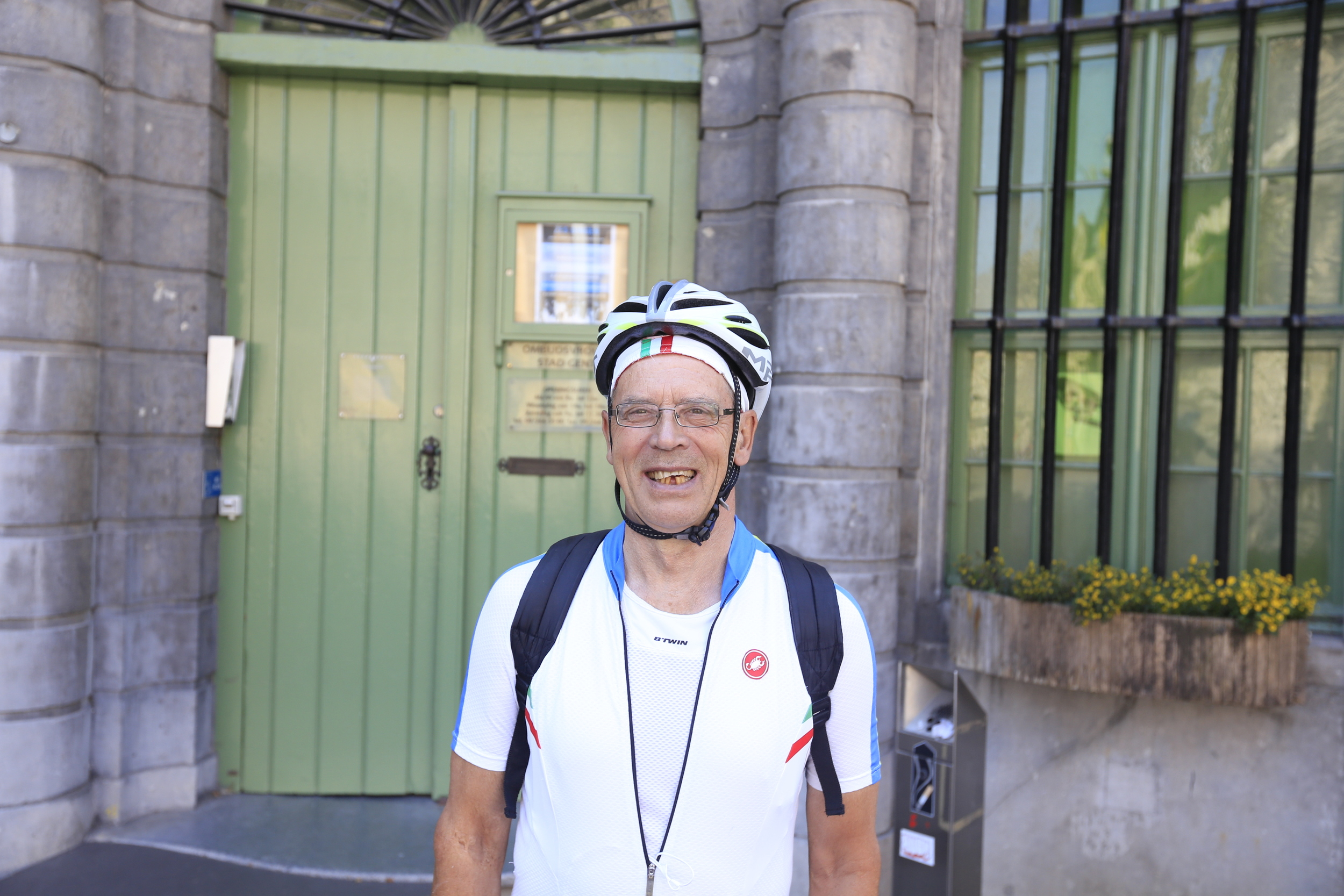 This lovely gentleman approached me, complimented my camera and told me the story of an inmate who survived his prison sentence in Ghent by suckling off a woman's breast. Touching stuff.