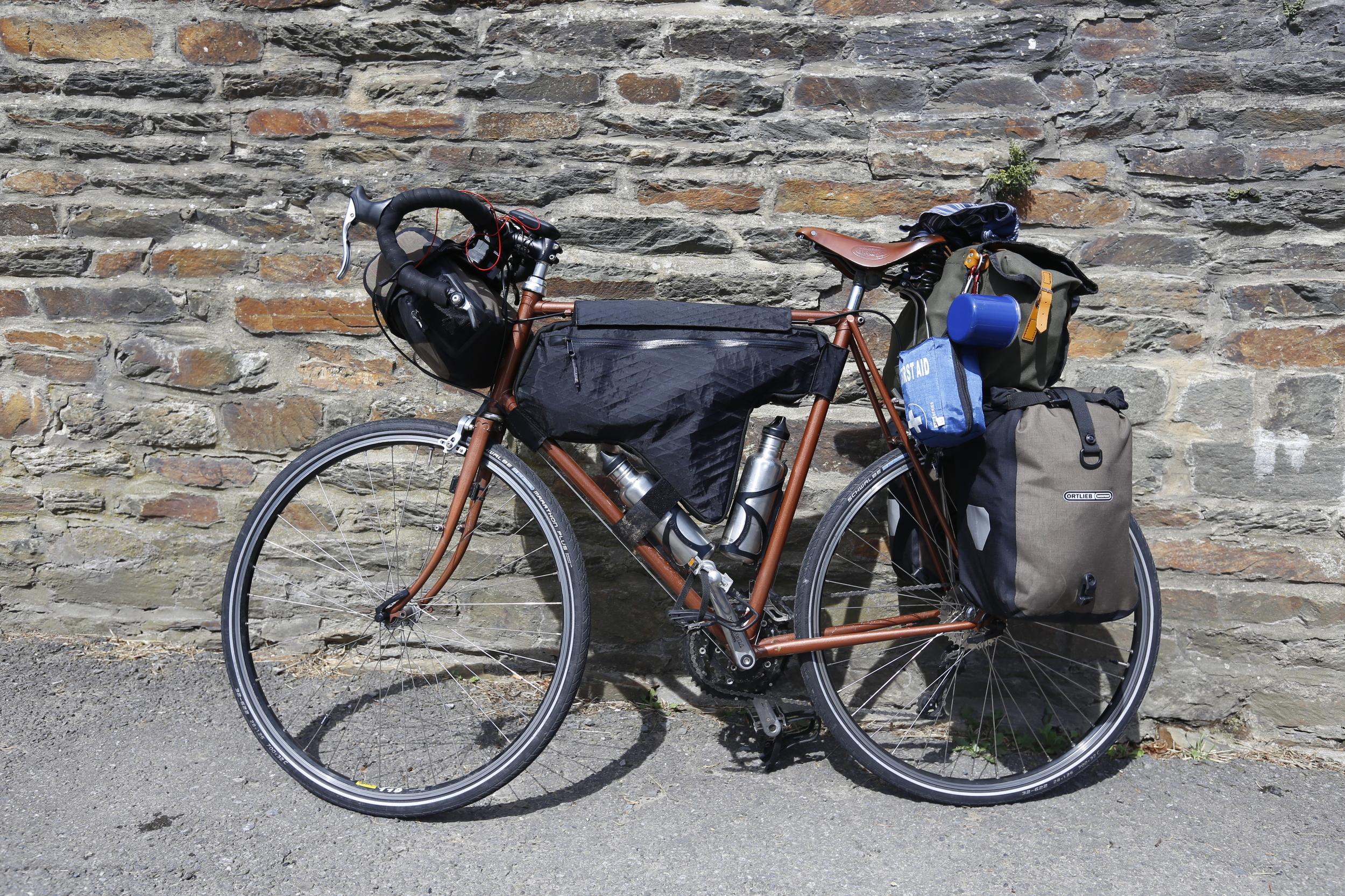 raleigh, raleigh bikes, raleigh racing bike, raleigh tourer, raleigh touring bike, custom, custom touring bike, travel, travel blog, bikepacking bike, bikepacking set up, bikepacking gear, wildcat, wildcat gear, carradie, ortlieb, schwalbe,