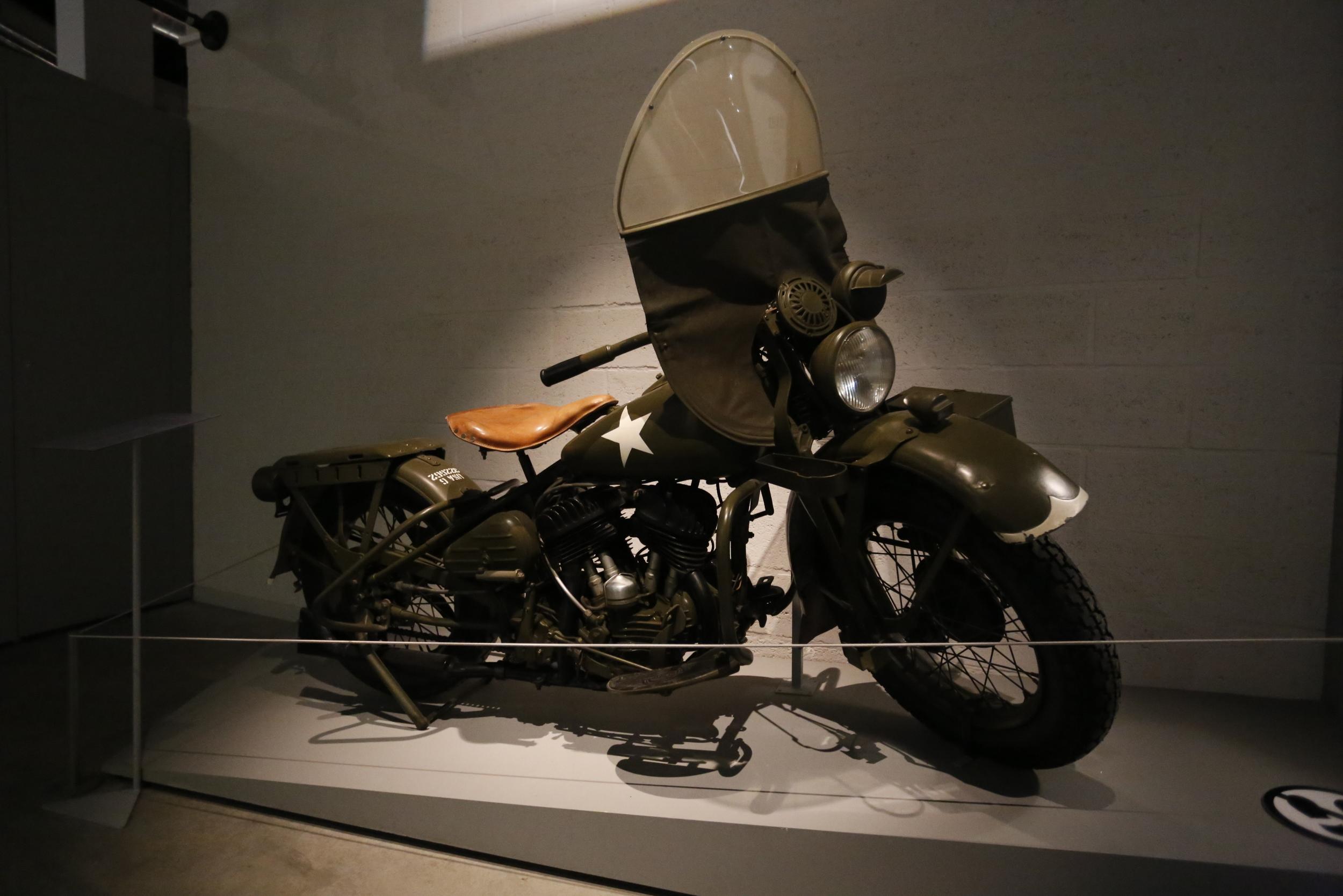 motorbike, vintage motorbike, classic motorbike, harley, harley davidson, biker, bikers, bastogne, bastogne belgium, belgium, war museum, WWII, visit belgium, bicycle touring apocalypse