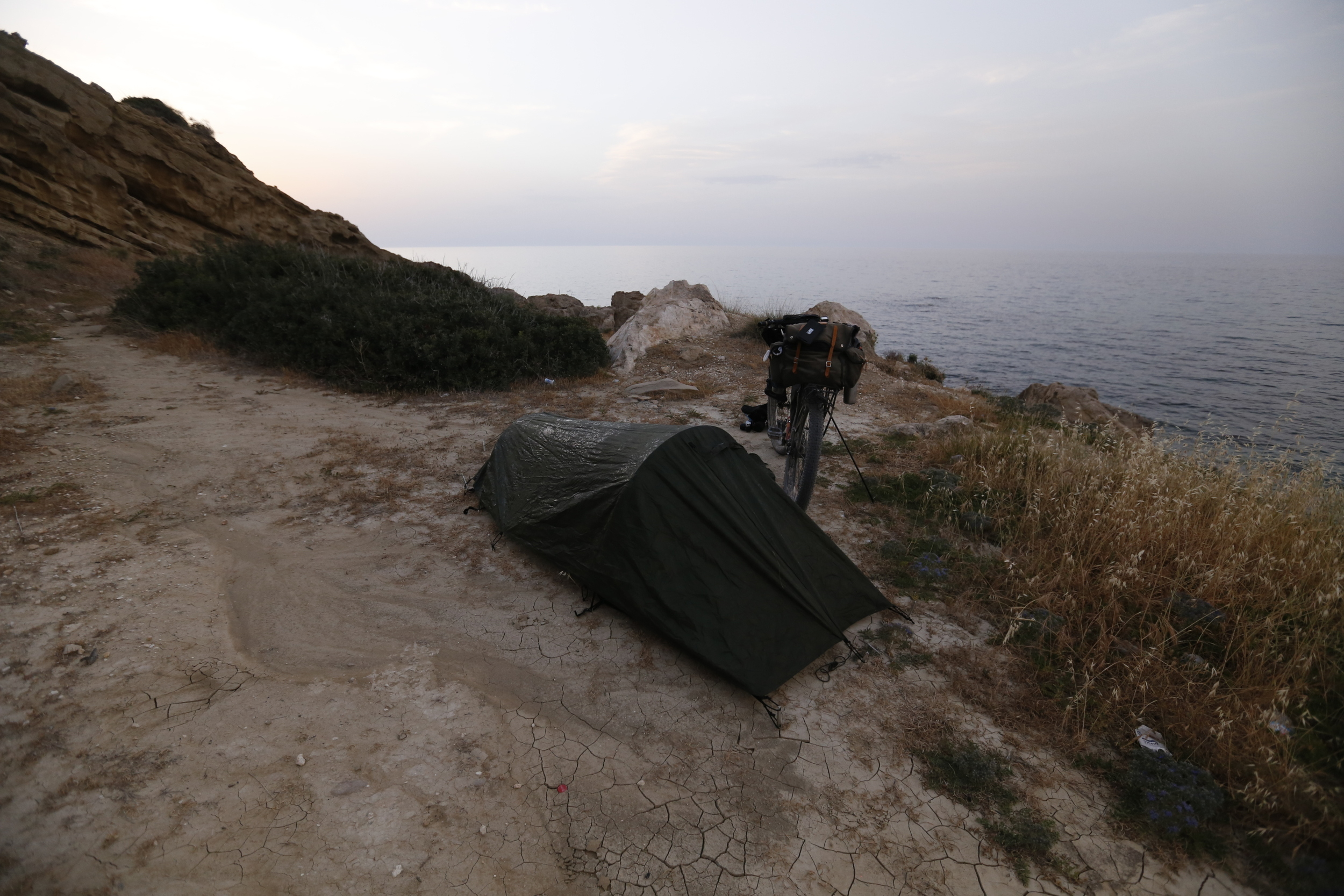 snugpak, snugpak ionosphere, ionosphere, tent, one man tent, bikepacking tent, bicycle touring tent, bikepacking shelter, touring bike, north cyprus, travel, jack macgowan, bicycle touring apocalypse, go north cyprus, surly, surly bikes, surly ecr, steel frame, kyrenia, kyrenia mountains, kyrenia mountain trail, klean kanteen, klean kanteen classic, wildcat gear, trangia, carradice, garmin, garmin edge