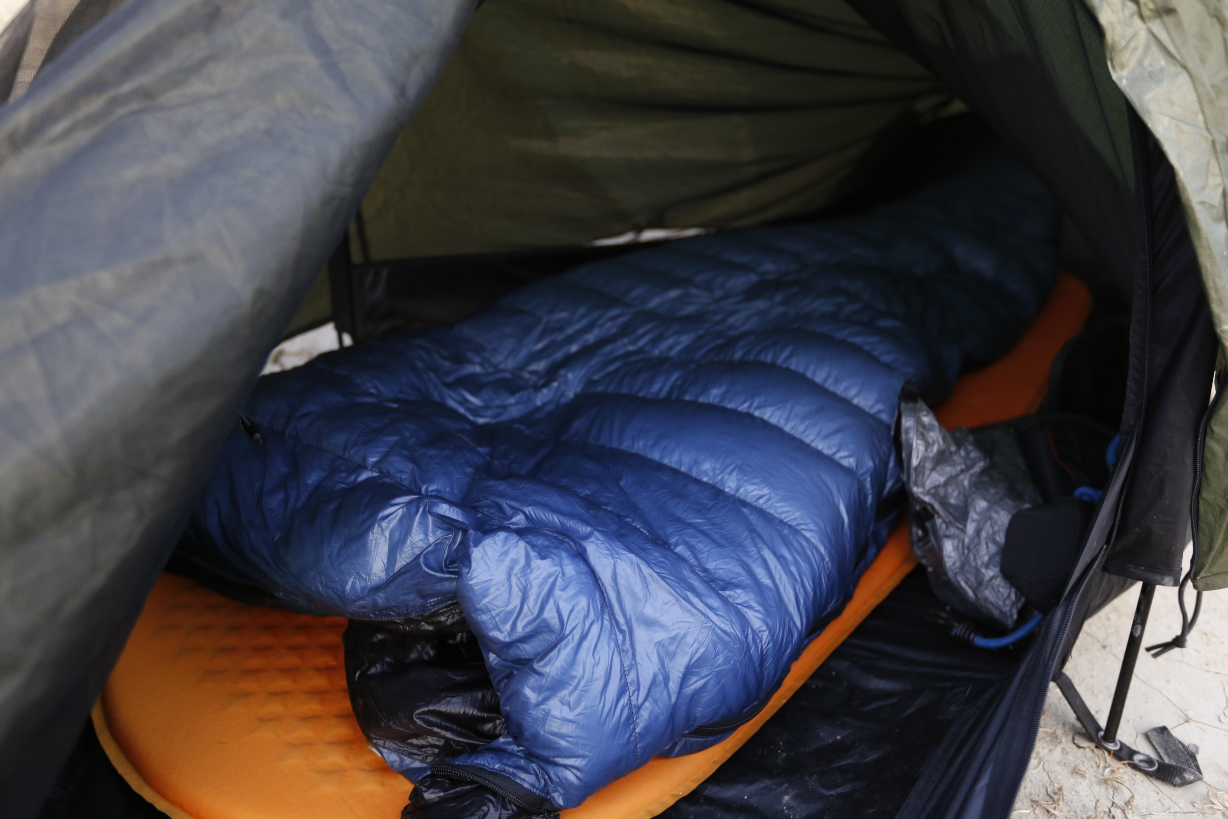 The truly astonishing   Z - Packs Down Sleeping Bag  , check out my review at   Bikepackers Magazine  .