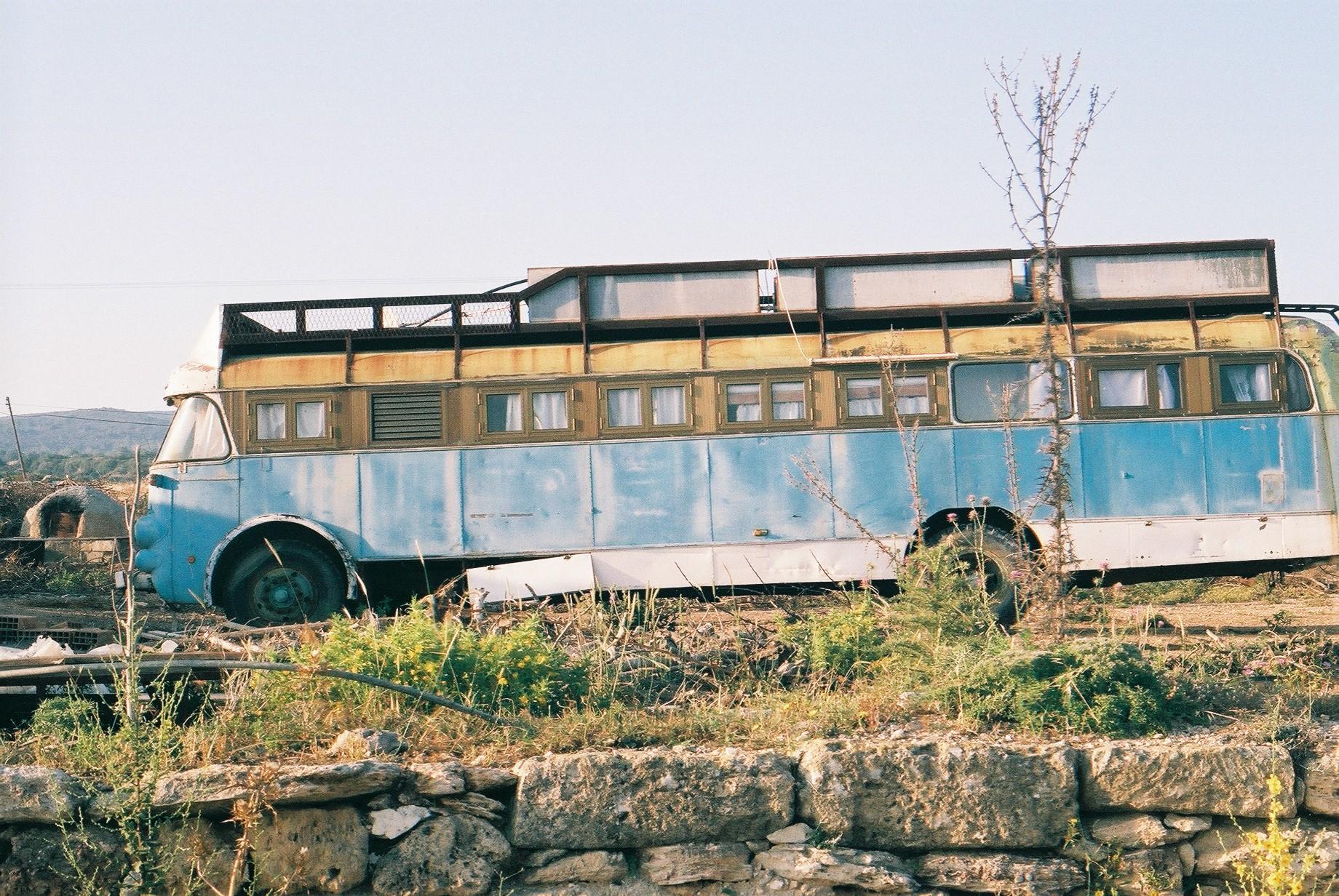 bus, street photography, north cyprus, camper van, cyprus, 35mm, canon, canon ae-1, travel photography, film photography, explore, street, film is not dead, shoot film, i love film, exploration