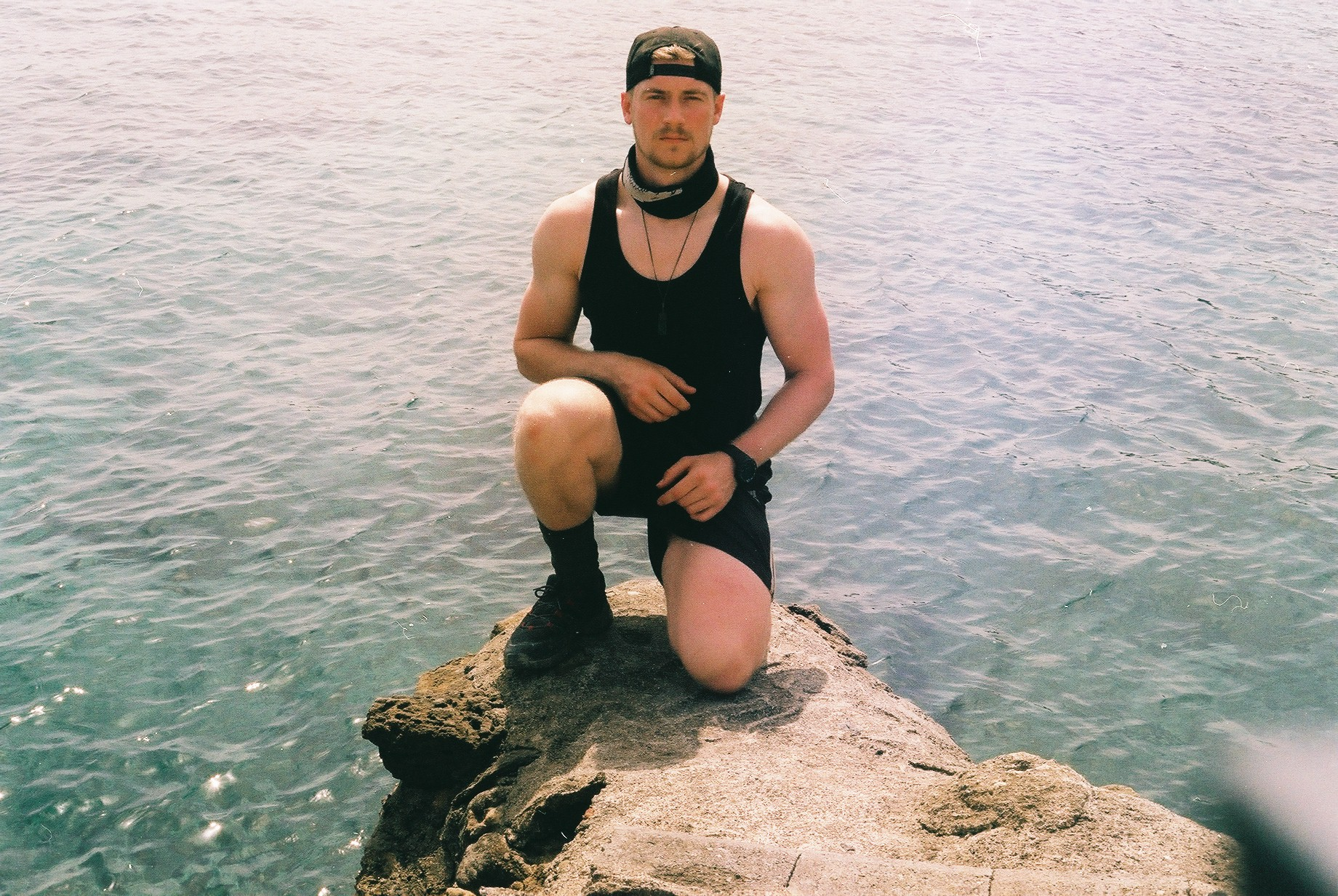 bicycle touring, bikepacking journalist, jack macgowan, bikepacking blog, north cyprus, go north cyprus, cyprus, travel journalist, travel photographer, 35mm, film camera, shoot film, film photography, photography, sea, blue sea, surly, surly bikes, ear, travel blog, travel website, linked