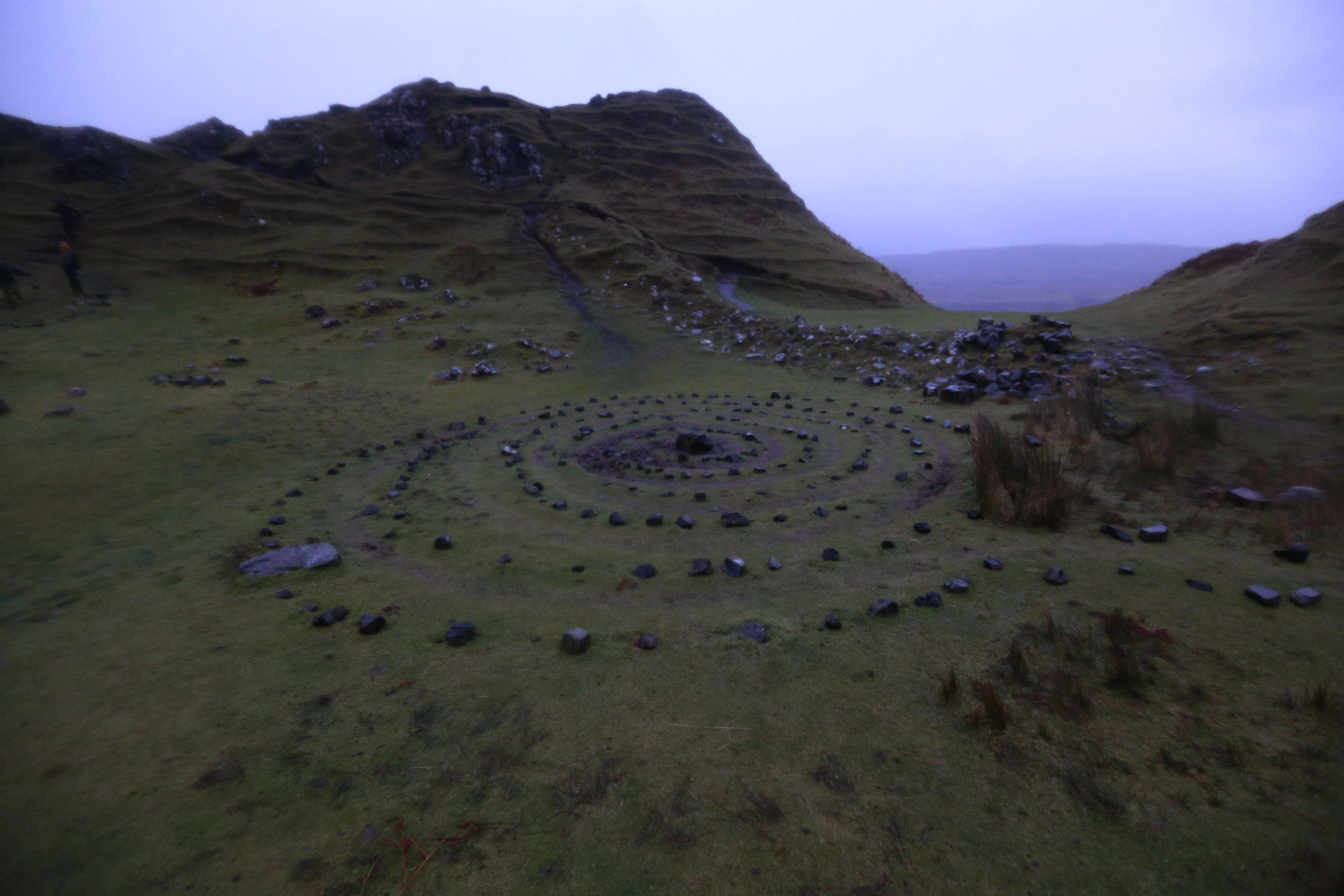 A tourist made Fairy circle...